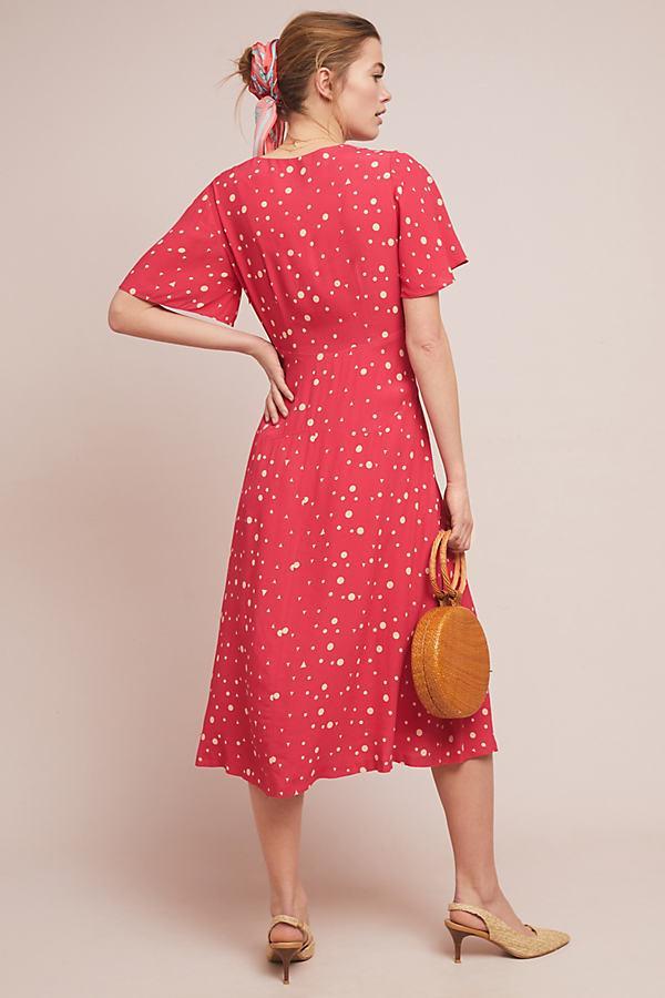 e9d0436fe70e Anthropologie - Red Kachel Betty Spot-print Midi Dress - Lyst. View  fullscreen