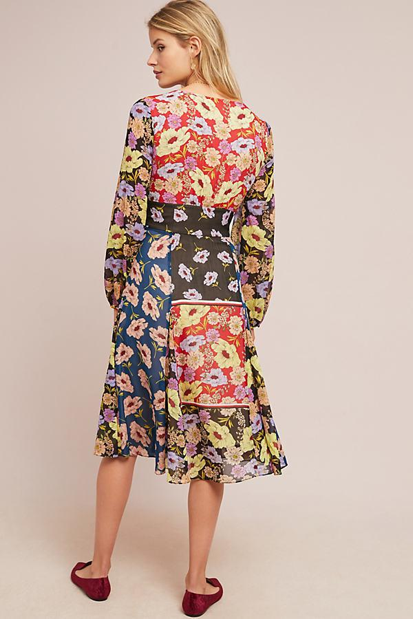 6067c7da22e7 Maeve Gardenia Wrap Dress - Lyst