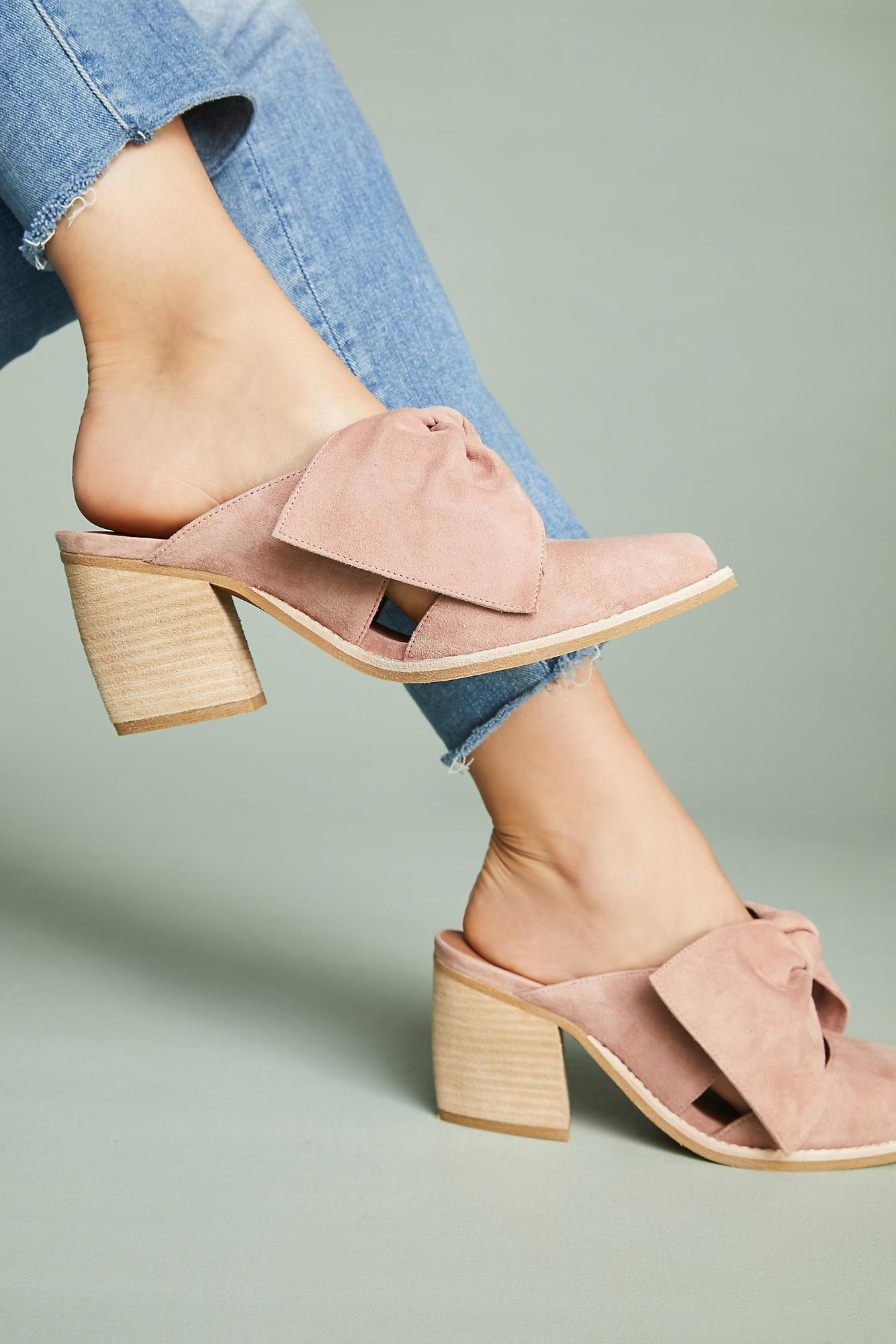 Lyst Anthropologie Jeffrey Campbell Cyrus Bow Mules