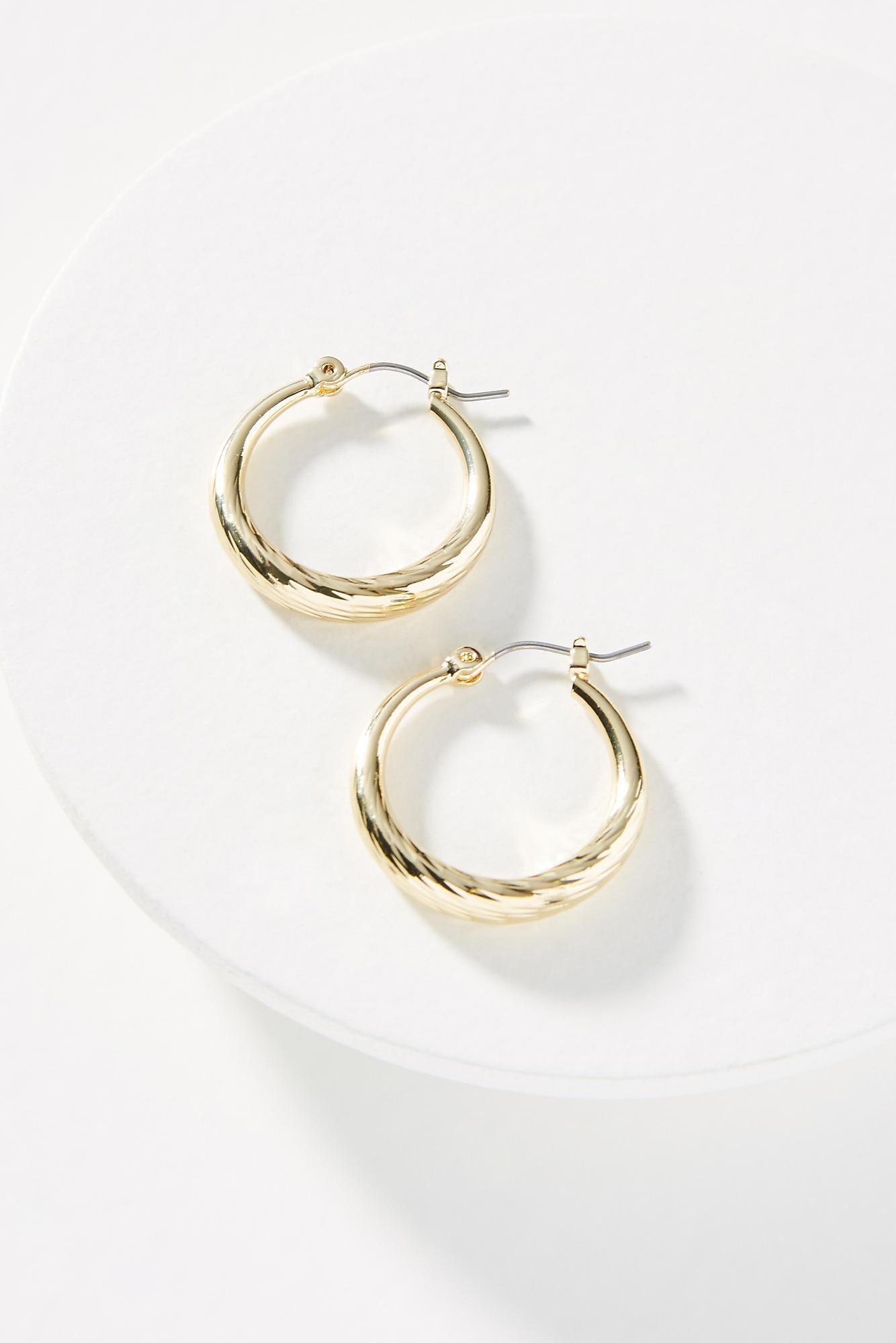 Anthropologie Ginger Hugger Hoop Earrings 7gq5cl