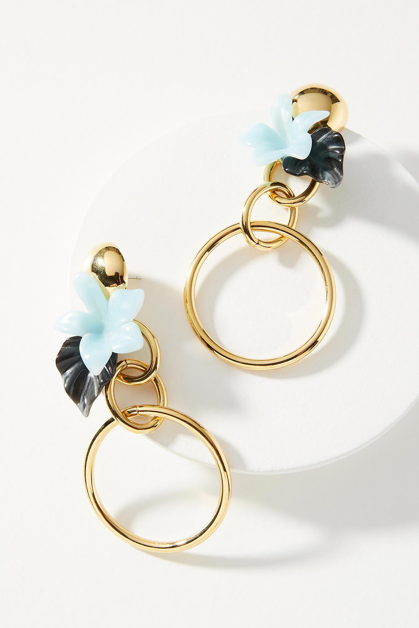 Lele Sadoughi Hibiscus Bouquet Drop Earrings KWsa6