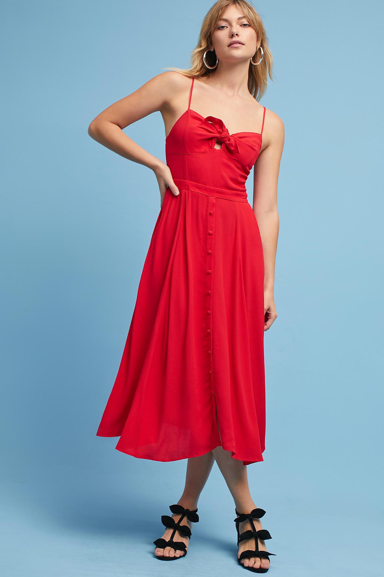 Lyst - Yumi Kim Desma Tie-front Dress in Red