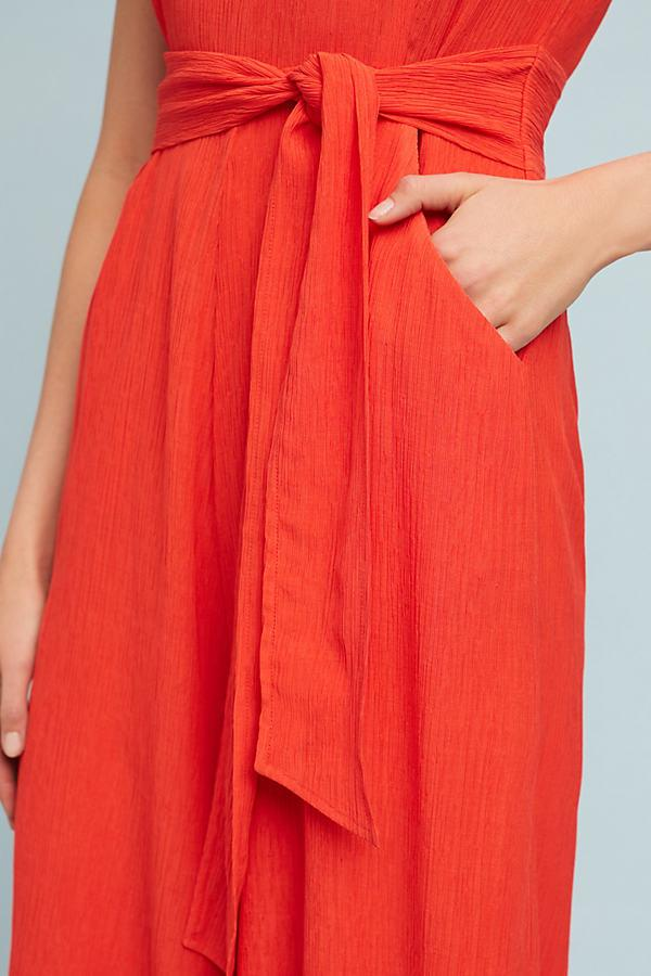 0e79a9d75ae Anthropologie Abbey Jumpsuit in Red - Lyst