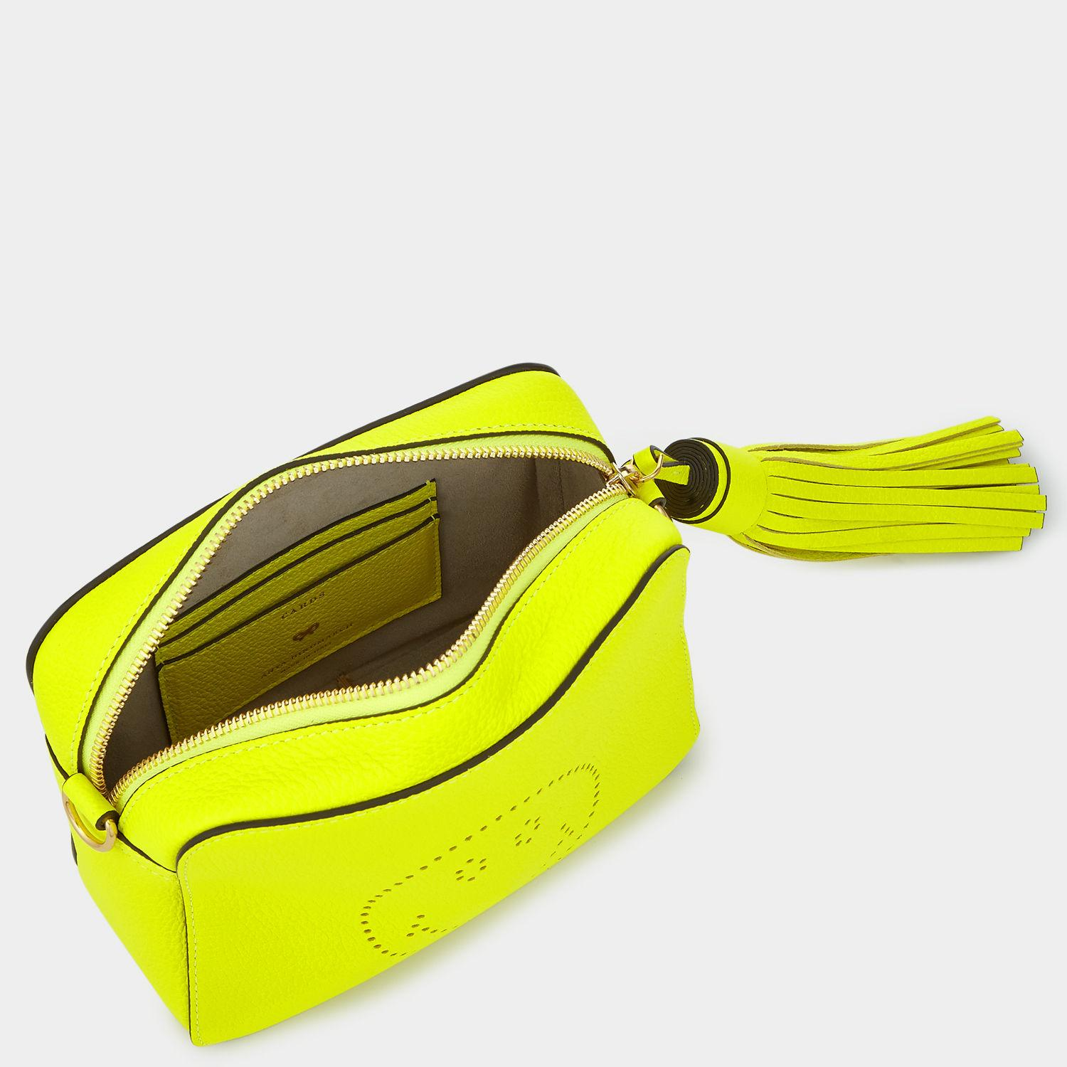 Anya Hindmarch Leather Smiley Face Cross-body Bag in Neon Yellow (Yellow)