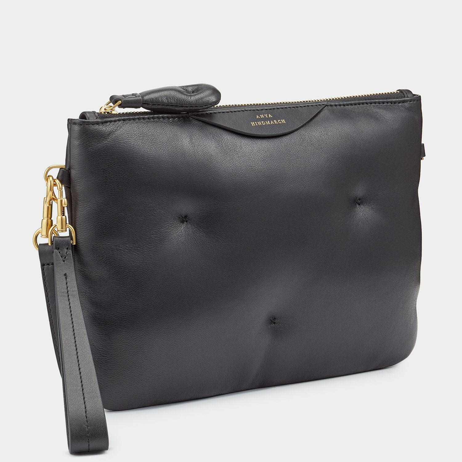 Anya Hindmarch Leather Chubby Cross-body Pouch in Black