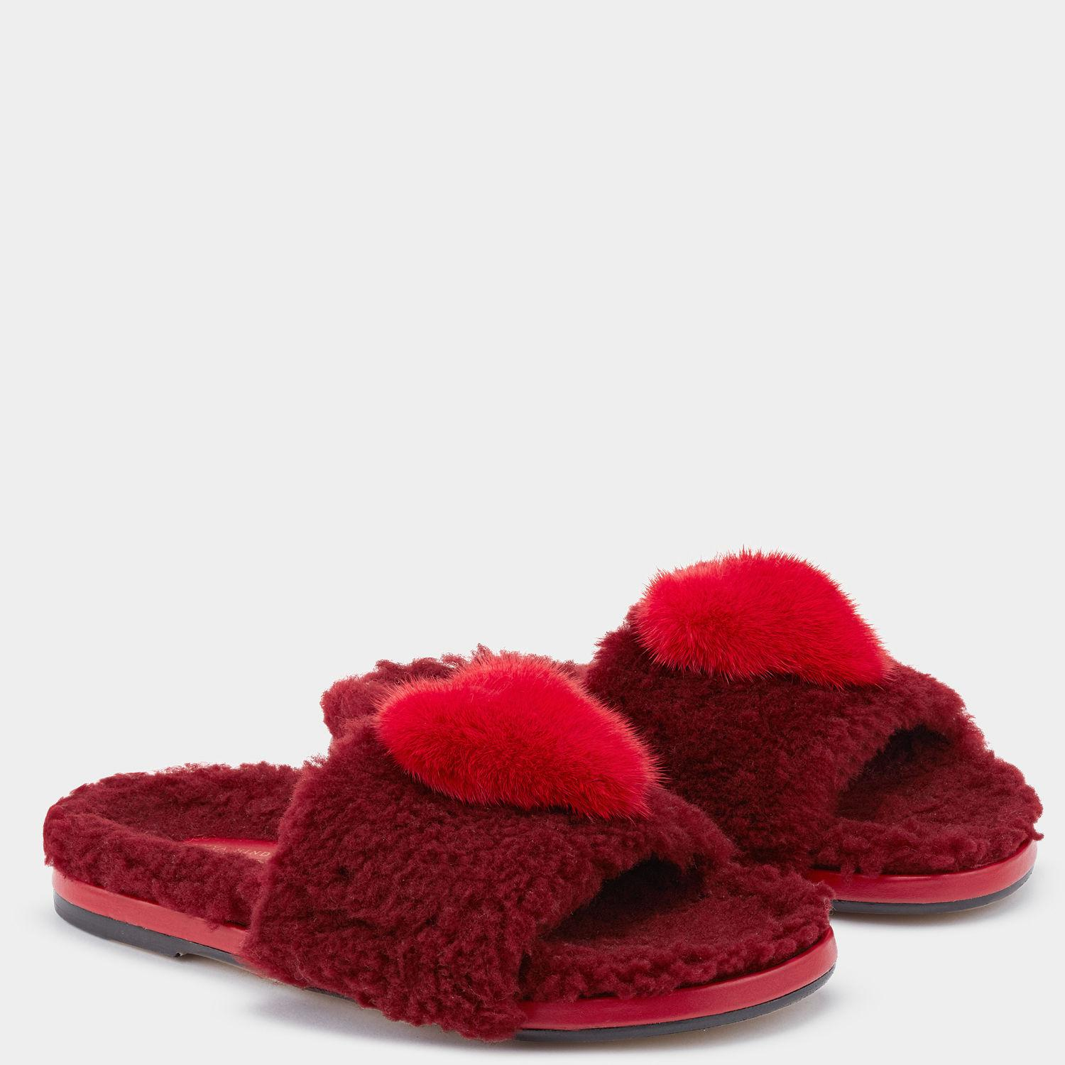 Givenchy Red Chubby Heart Slides RKBmJ7