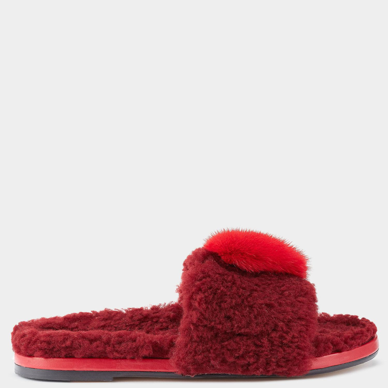 Givenchy Red Chubby Heart Slides 0ahbndf1