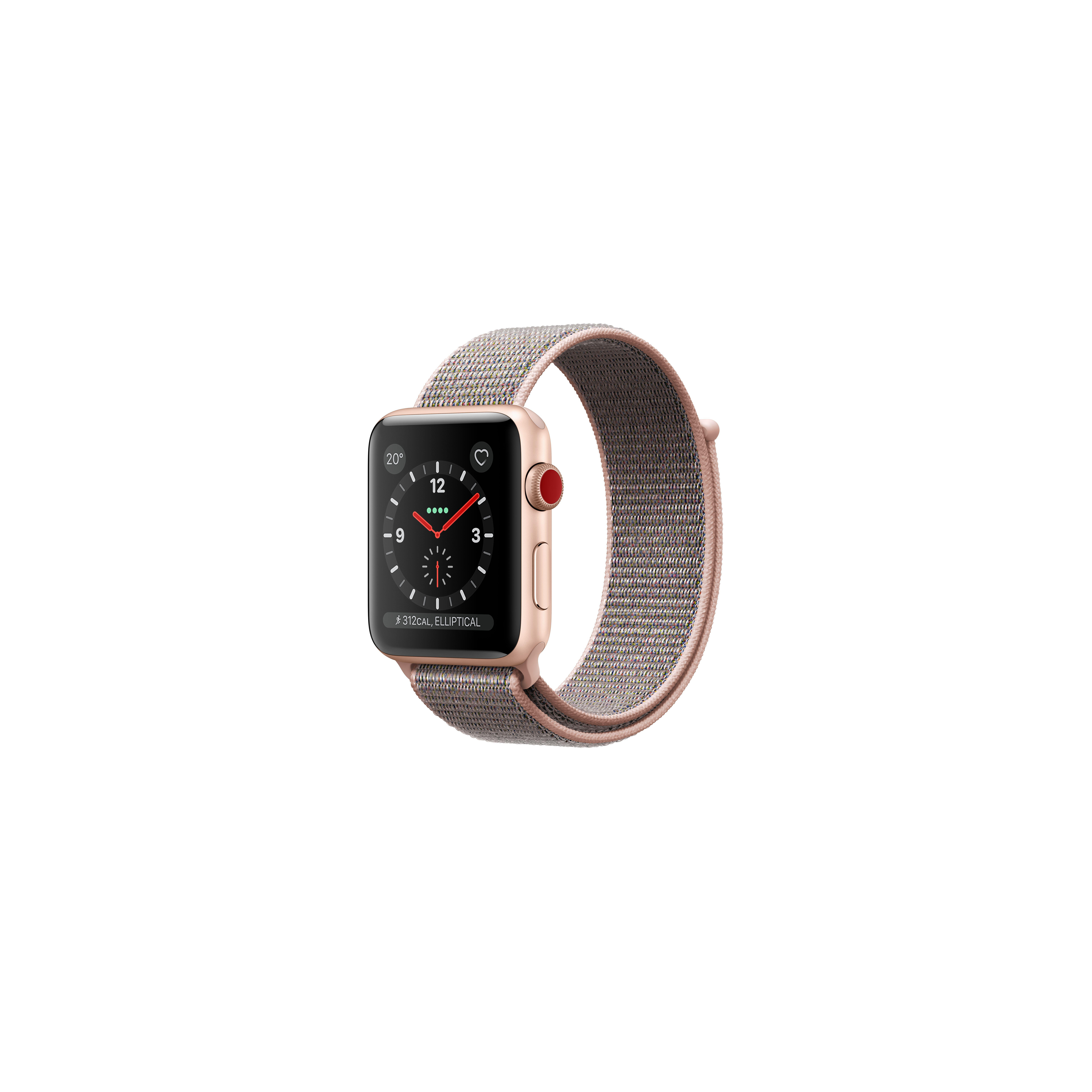 Apple Watch Series 3 Gps Cellular 38mm Gold Aluminum Case With