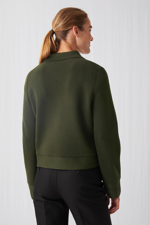 Arket Wool Merino Box Jacket In Khaki Green Green Lyst