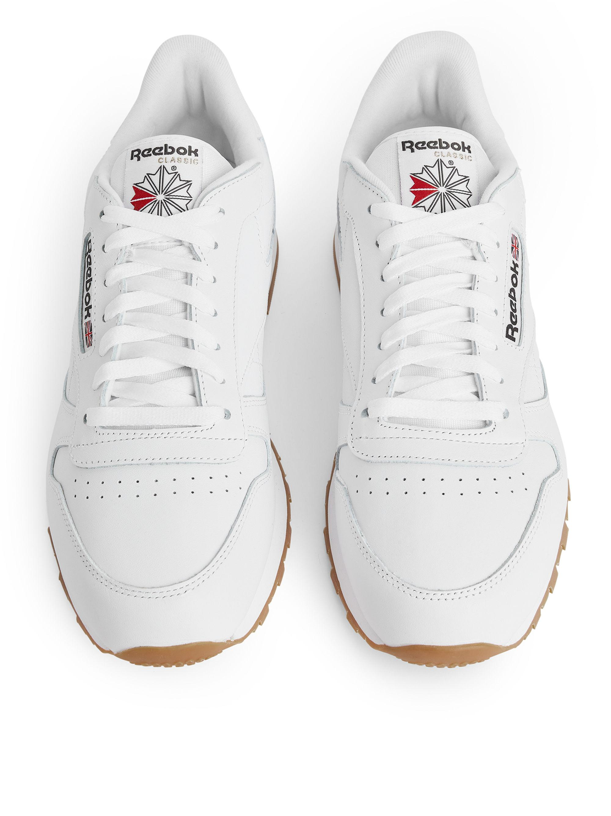 cfd8faa0754 Reebok Classic Leather in White for Men - Lyst