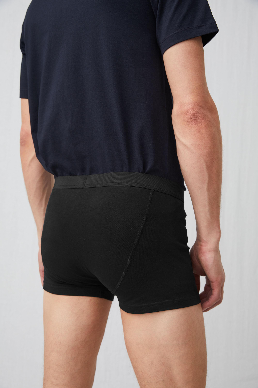 eb5df0de96 ARKET Pima Cotton Trunks in Black for Men - Lyst
