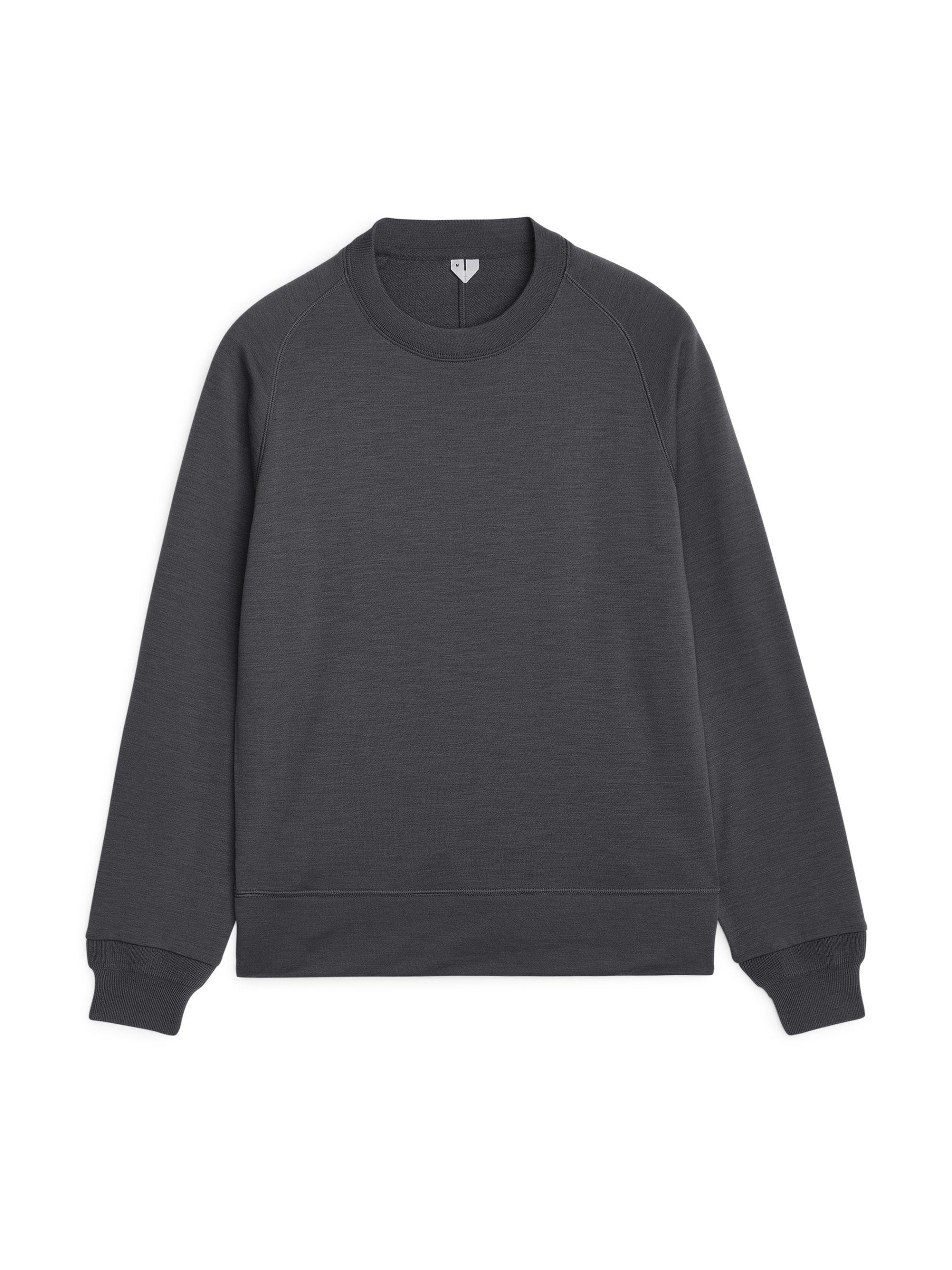 ARKET Wool French Terry Merino Sweatshirt in Grey (Grey) for Men