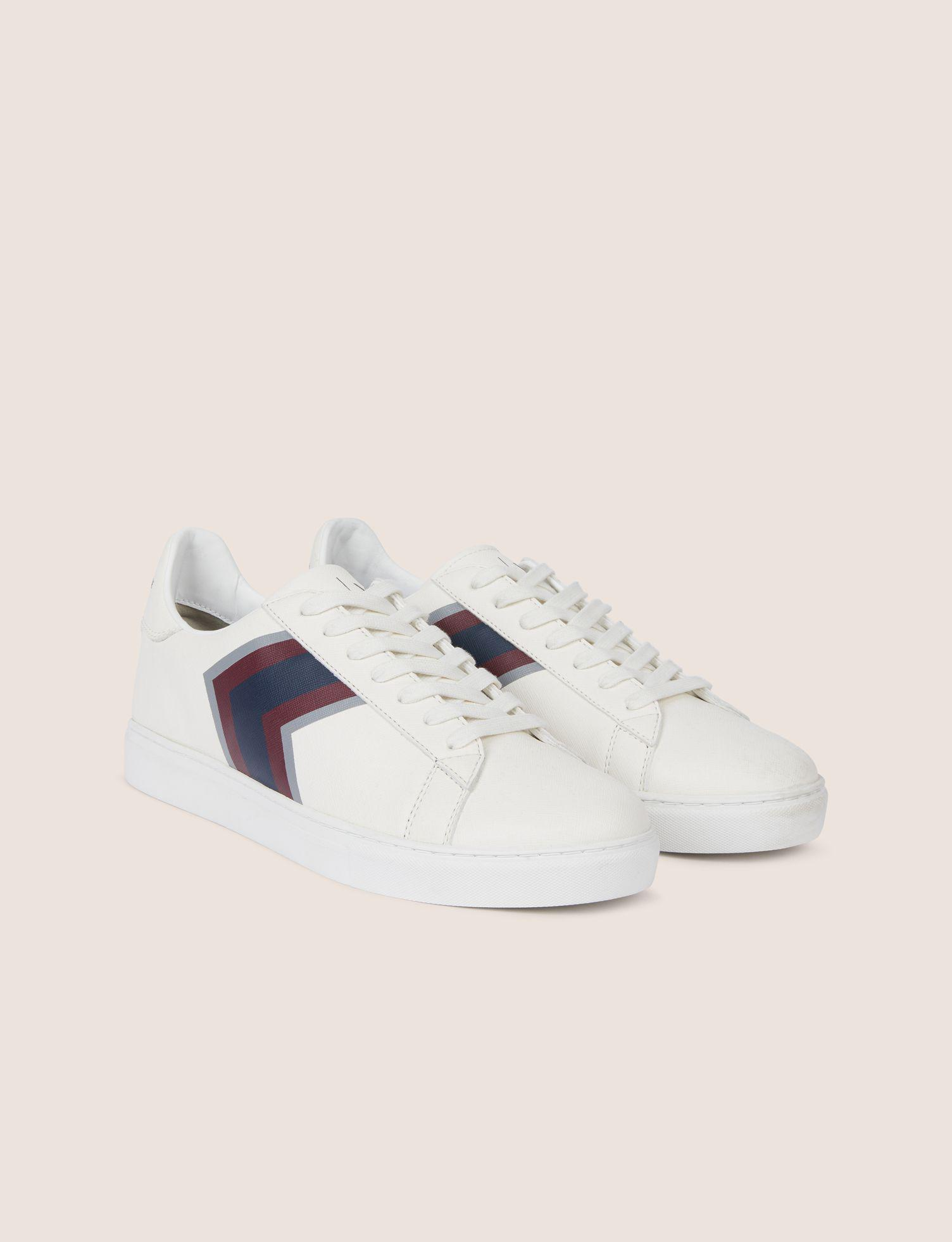 Lyst - Armani Exchange Textured Chevron Low-top Sneaker in White for Men 447f67e5668