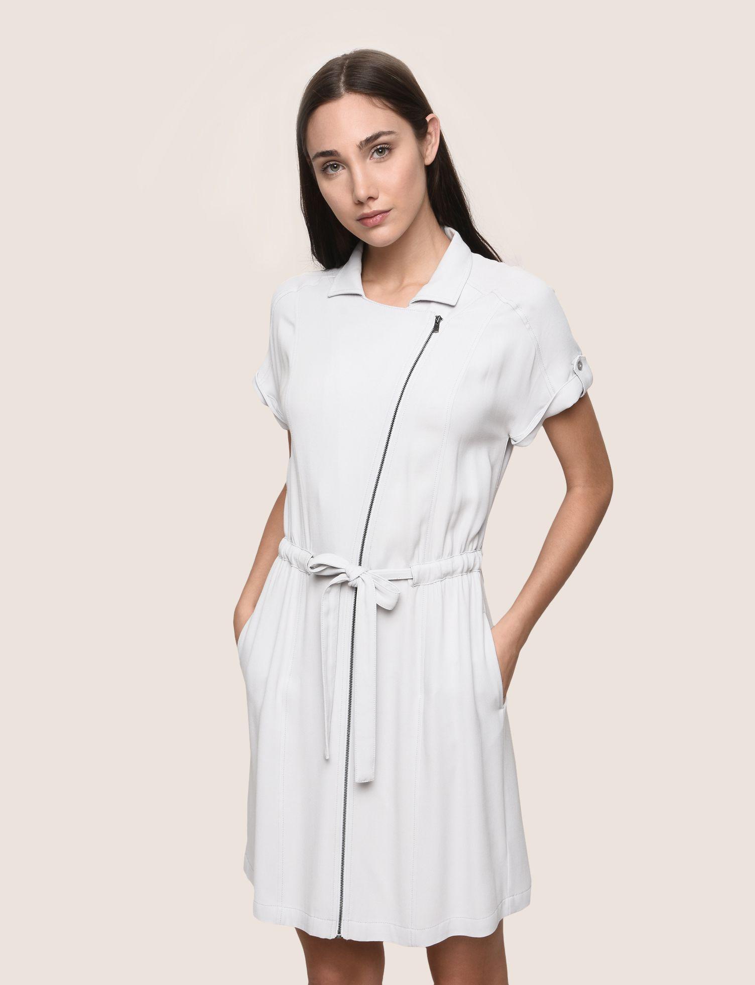 0f40ffda Armani Exchange Gray Zip-up Shirtdress