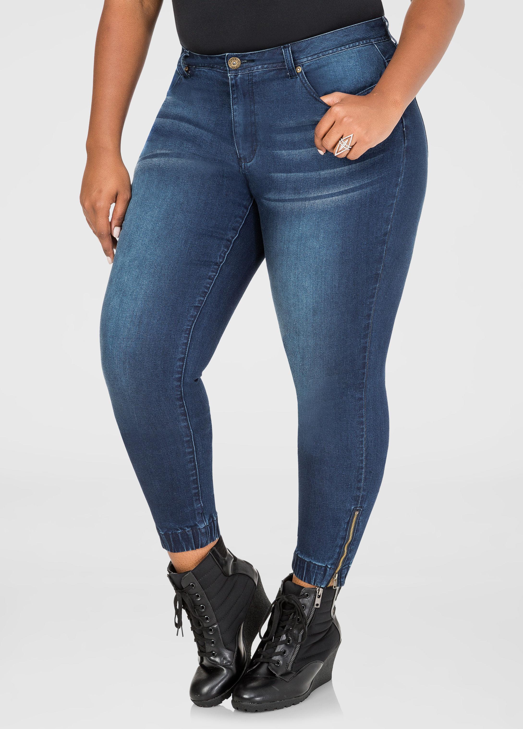 22880b3d7d5 Lyst - Ashley Stewart Jogger Leg Skinny Jean in Blue