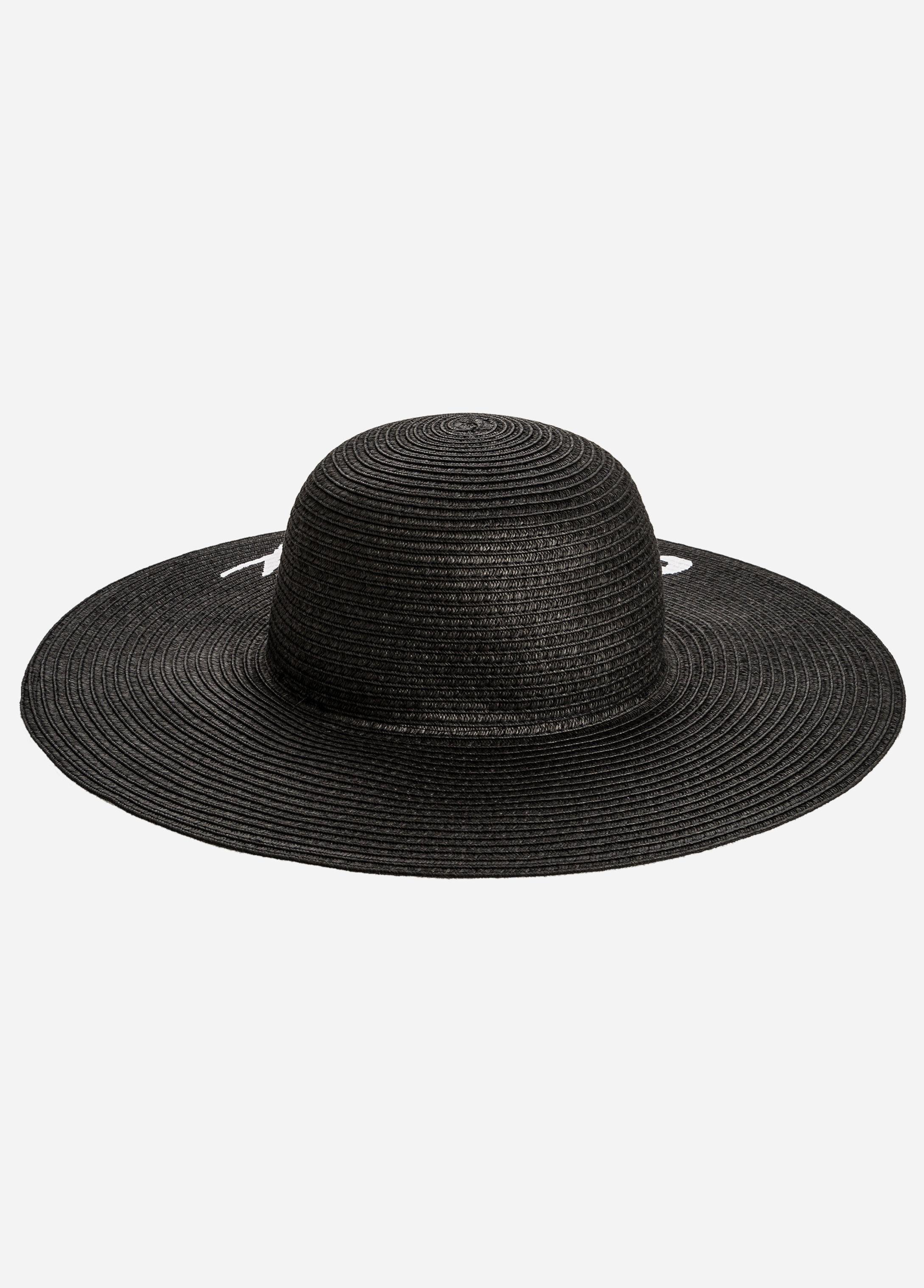 Lyst - Ashley Stewart Bridal  Wifey Floppy Straw Hat in Black 78a56ebcd0c