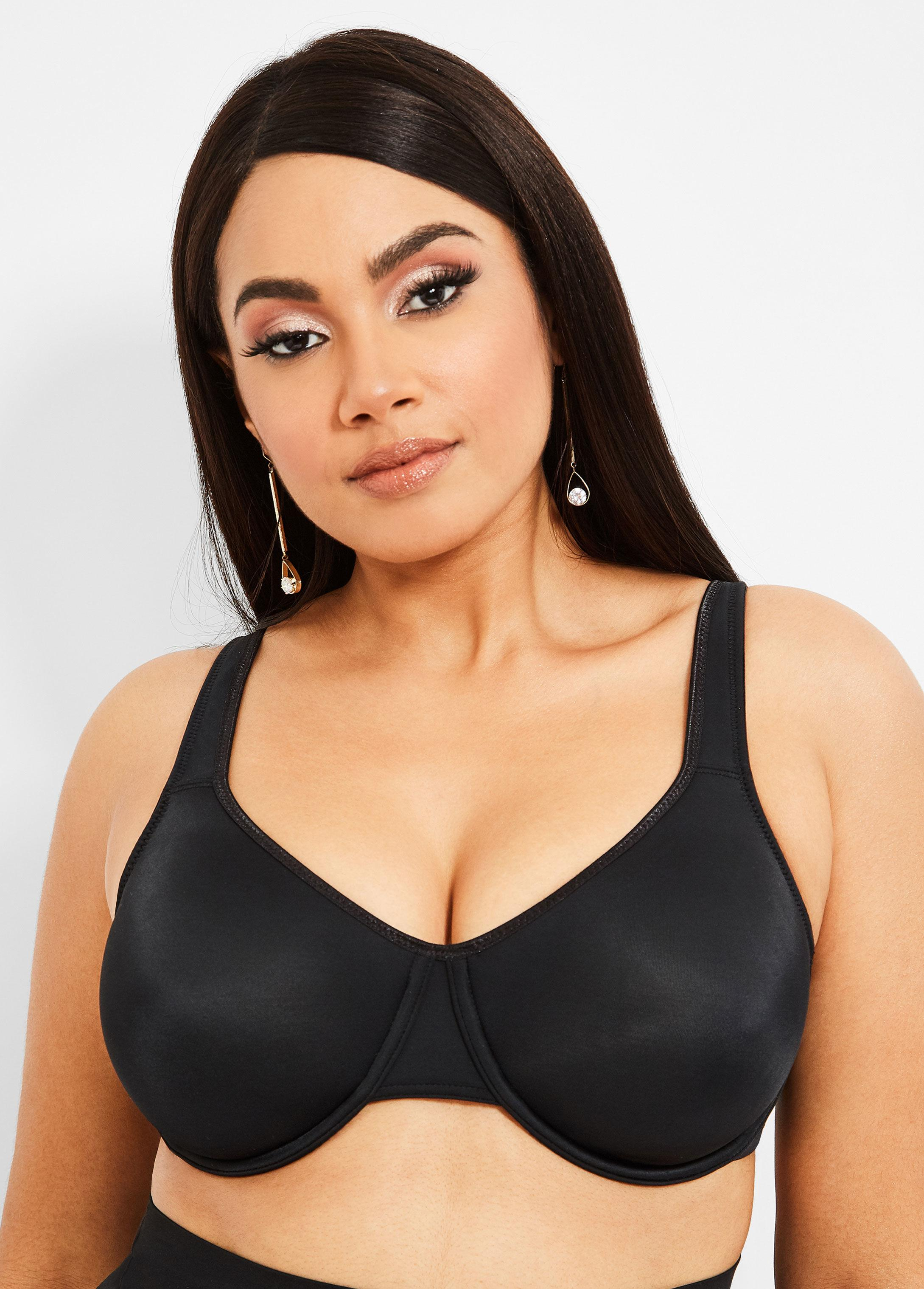 544dea74302 Ashley Stewart - Black Plus Size Underwire Soft Cup Bra - Lyst. View  fullscreen