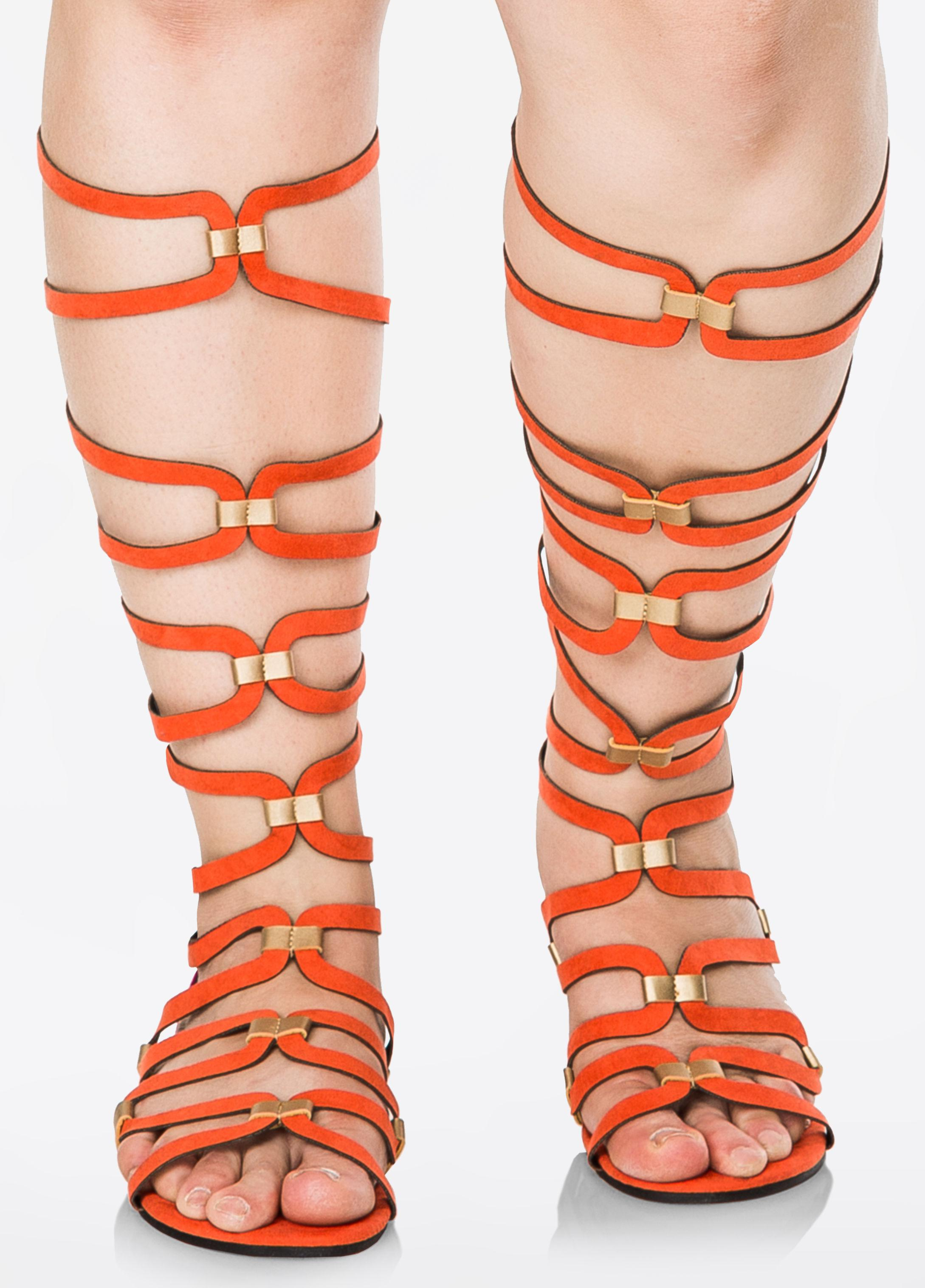 0baf6a6238d Gallery. Previously sold at  Ashley Stewart · Women s Gladiator Sandals ...