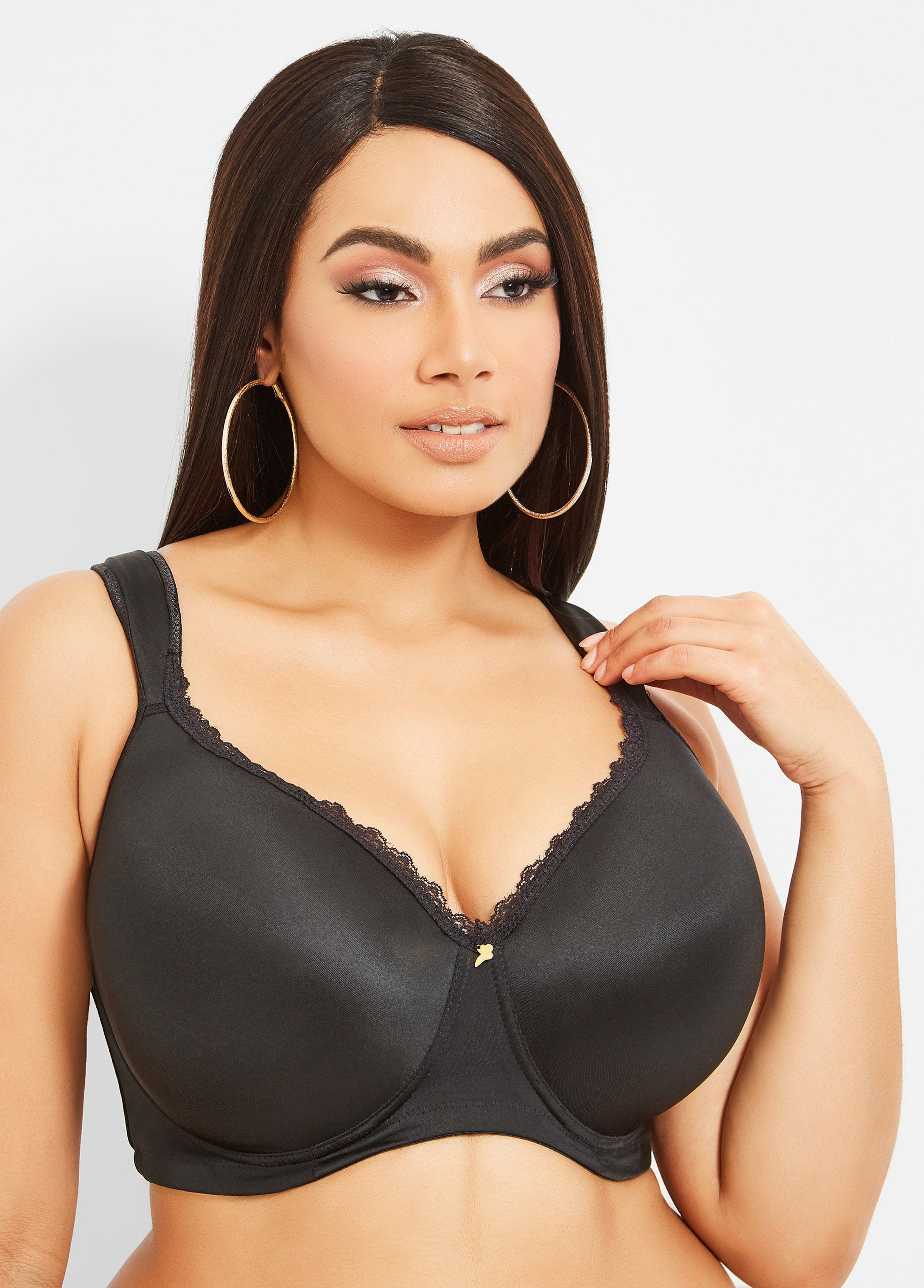 d3a7eb12708 Lyst - Ashley Stewart Plus Size Full Coverage Butterfly Bra in Black ...