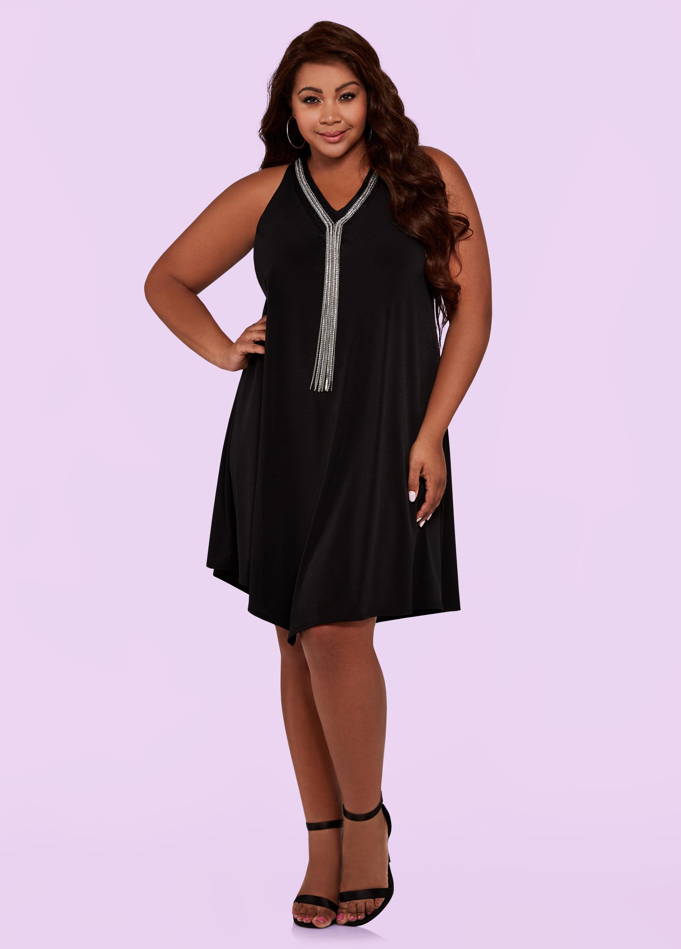 1374b8b59a388 Lyst - Ashley Stewart Plus Size The Riri Dress in Black
