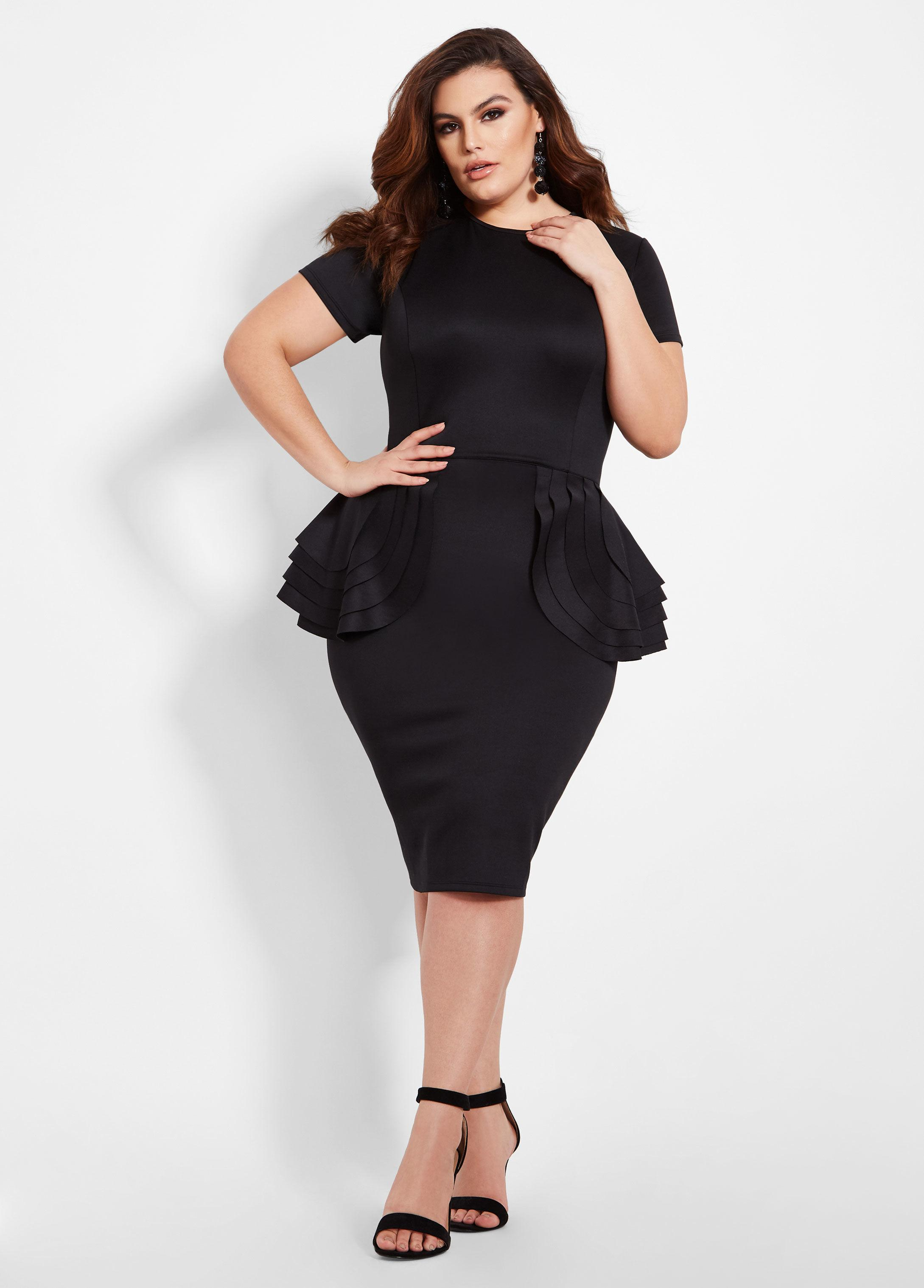 Plus Size Multi Tier Peplum Dress