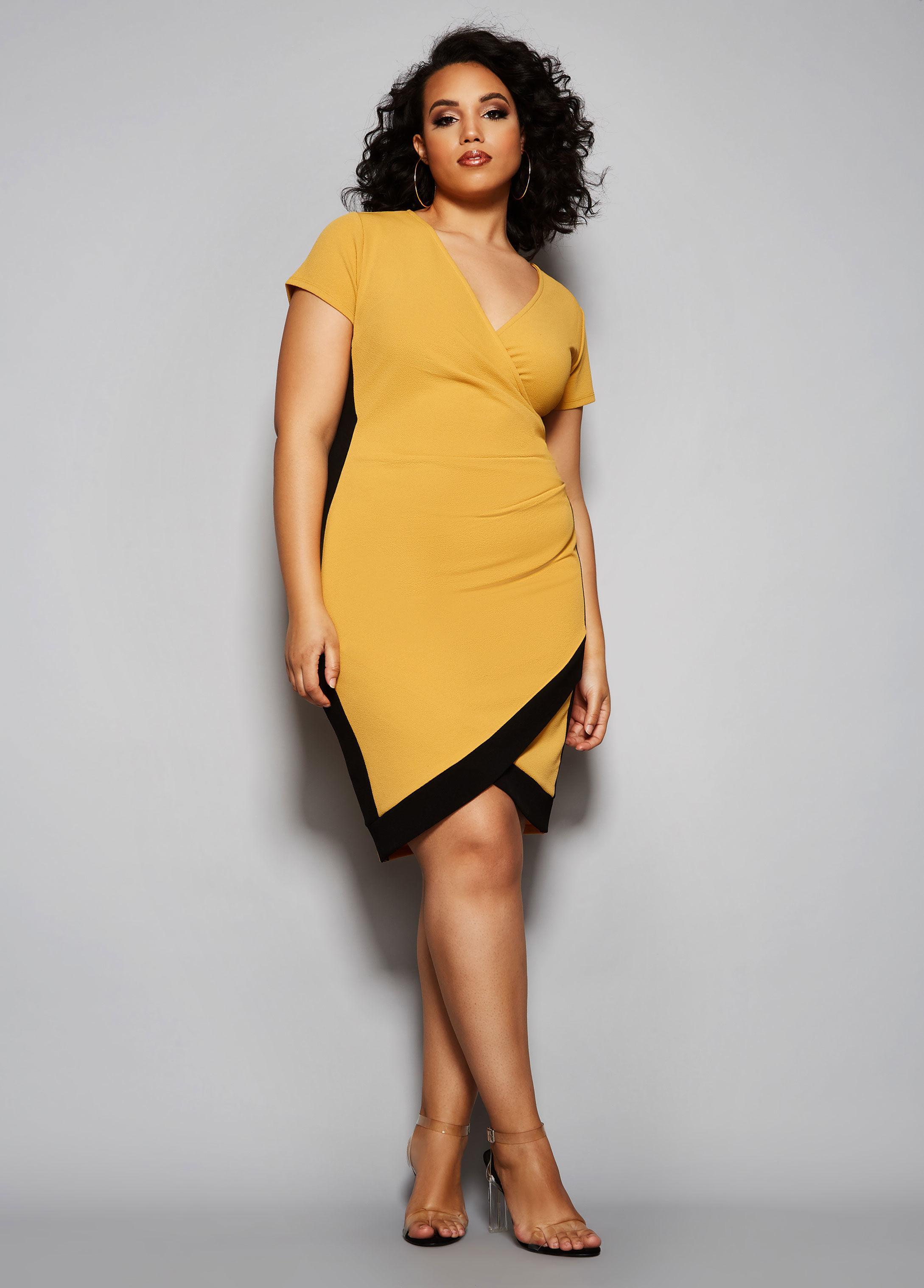 43f7f11790 Lyst - Ashley Stewart Plus Size The Eliza Dress in Yellow