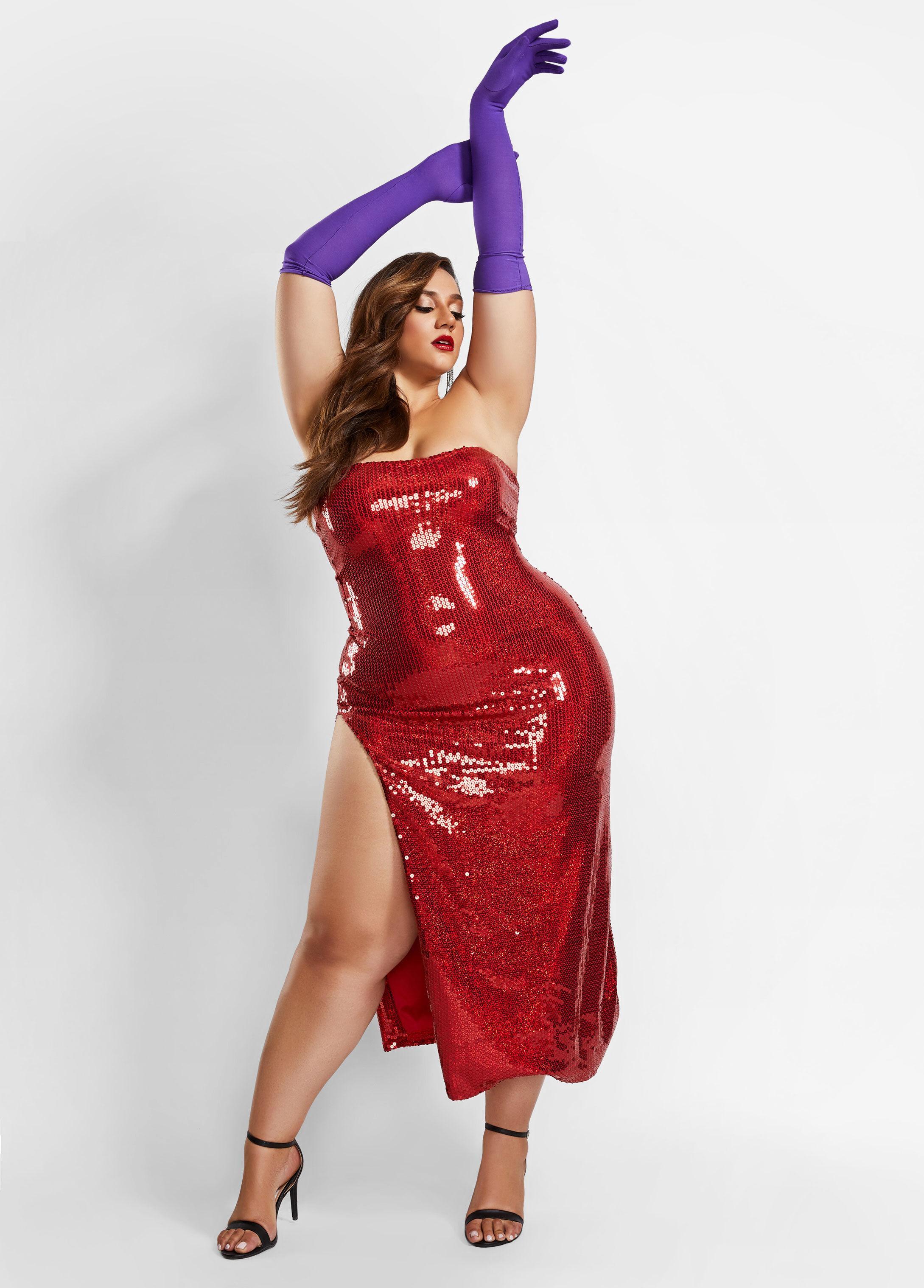 ashley stewart plus size jessica rabbit halloween costume