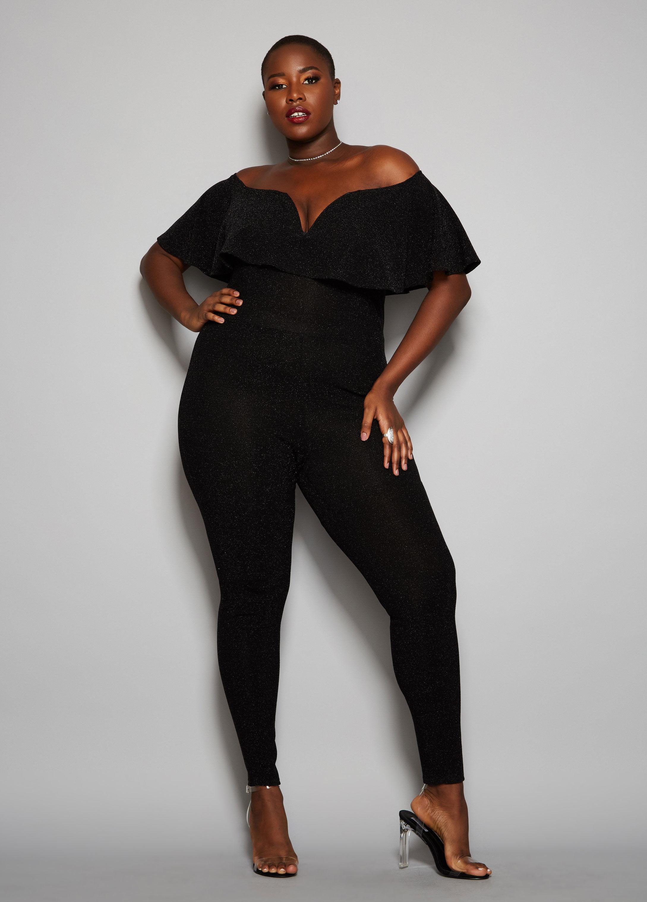 0180f27583c67 Lyst - Ashley Stewart Plus Size The Sweetheart Jumpsuit in Black