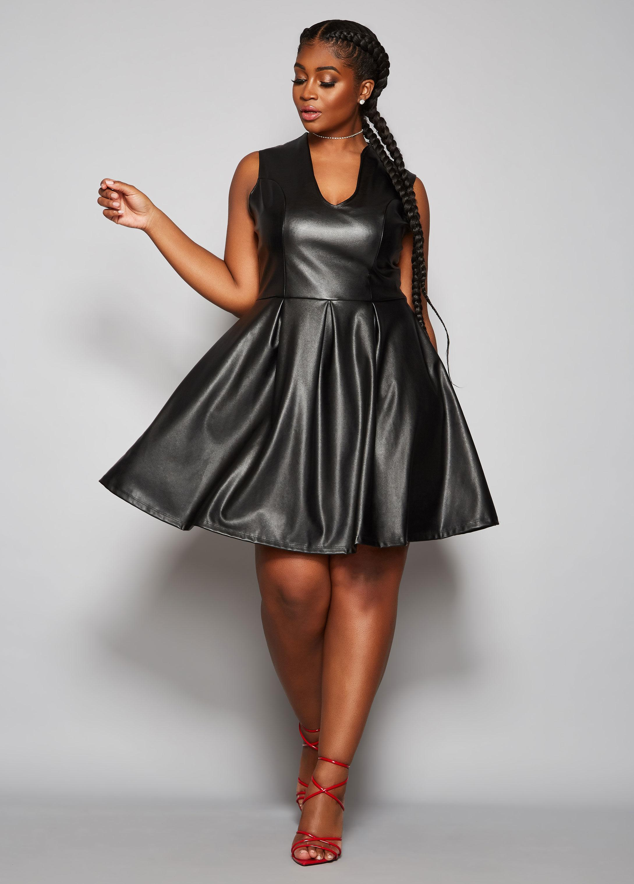 Plus Size The Shay Faux Leather Dress