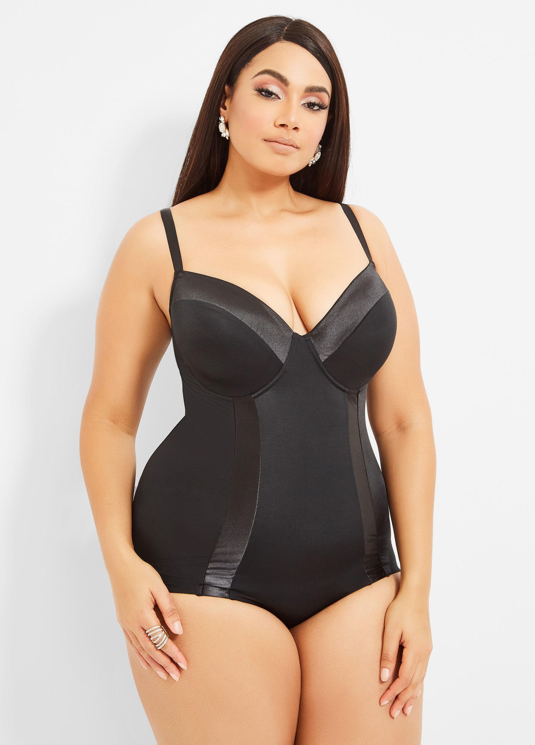 bae09b2f79 Ashley Stewart. Women s Black Plus Size Ultra Smoothing Shapewear Bodysuit