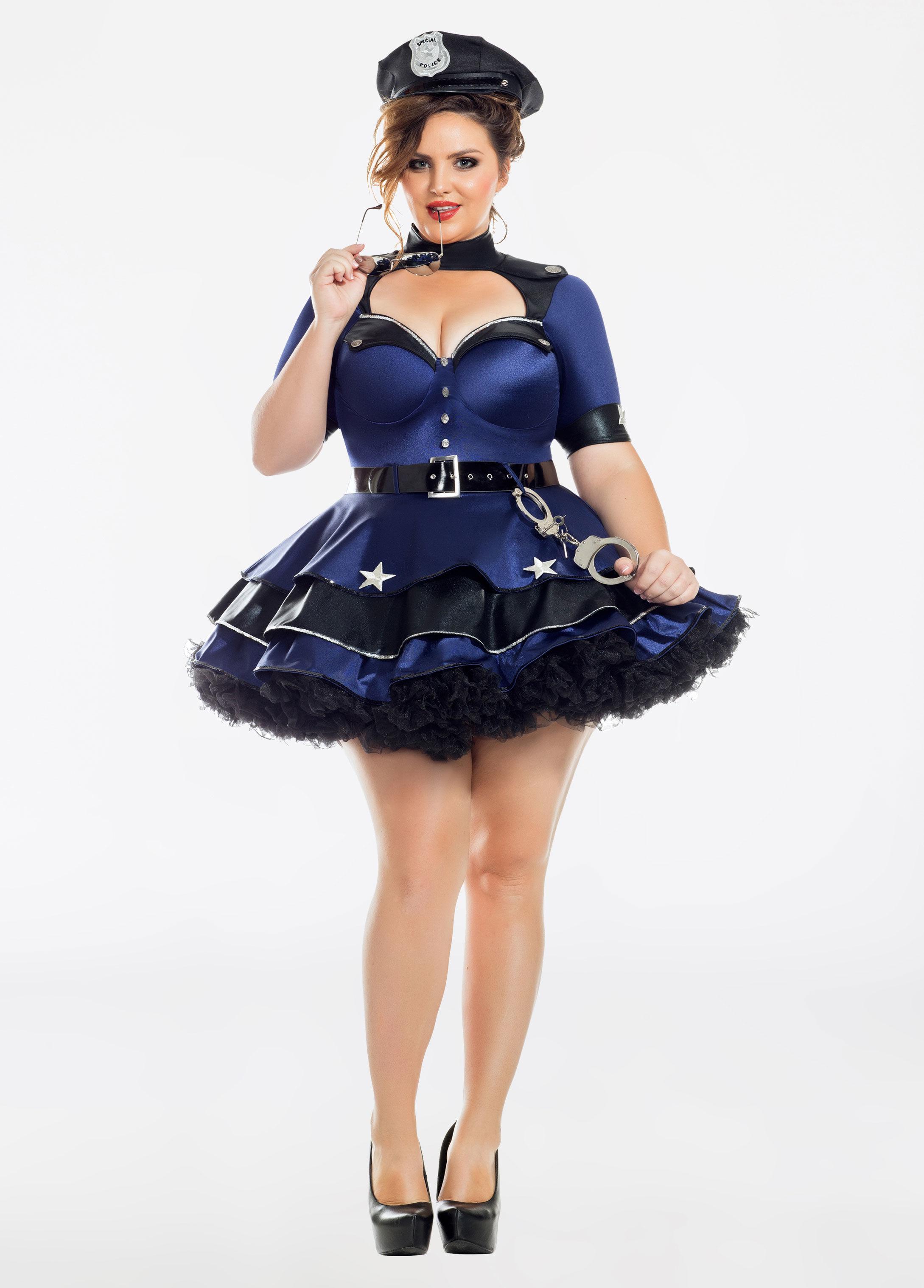2a04ebd7b07 Lyst - Ashley Stewart Plus Size Lovely Recruit Halloween Costume in Blue