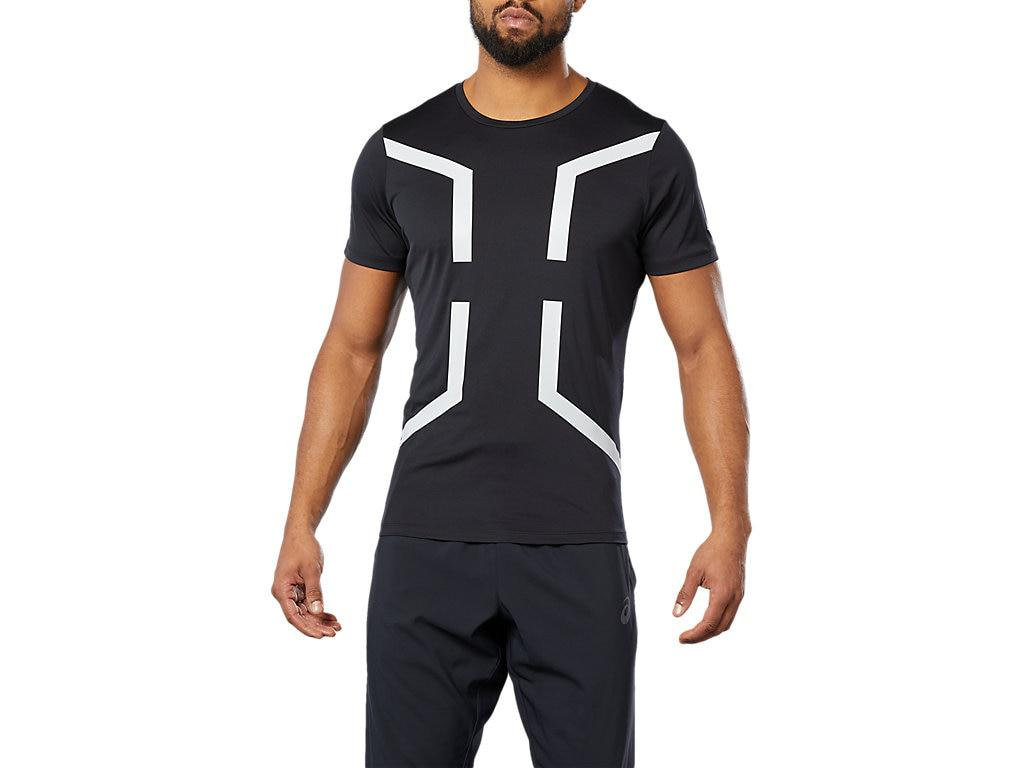 5a8578a54b Asics Sport Hex Ss Top in Black for Men - Lyst