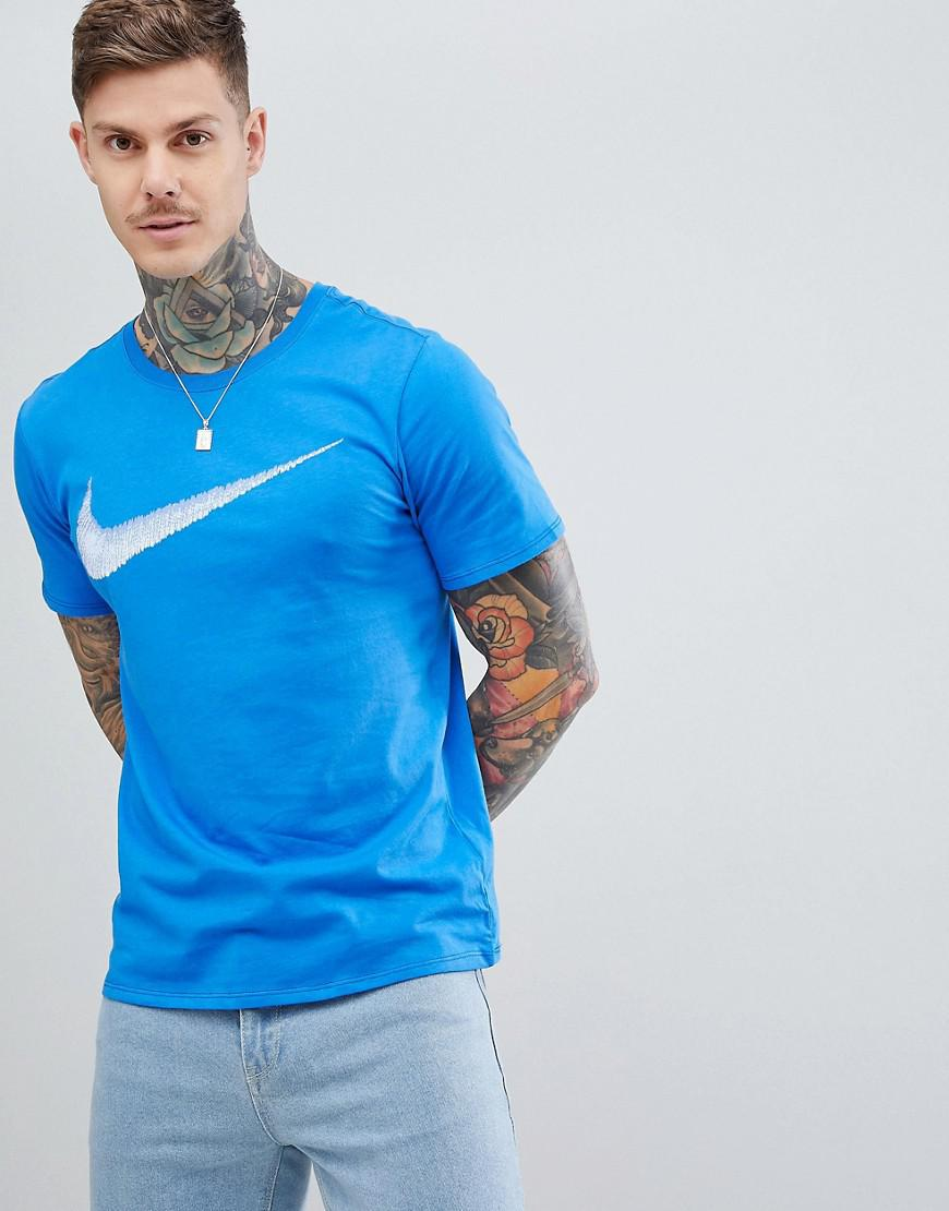 9cf55e68c45c Nike Hangtag Swoosh T-shirt In Blue 707456-403 in Blue for Men - Lyst