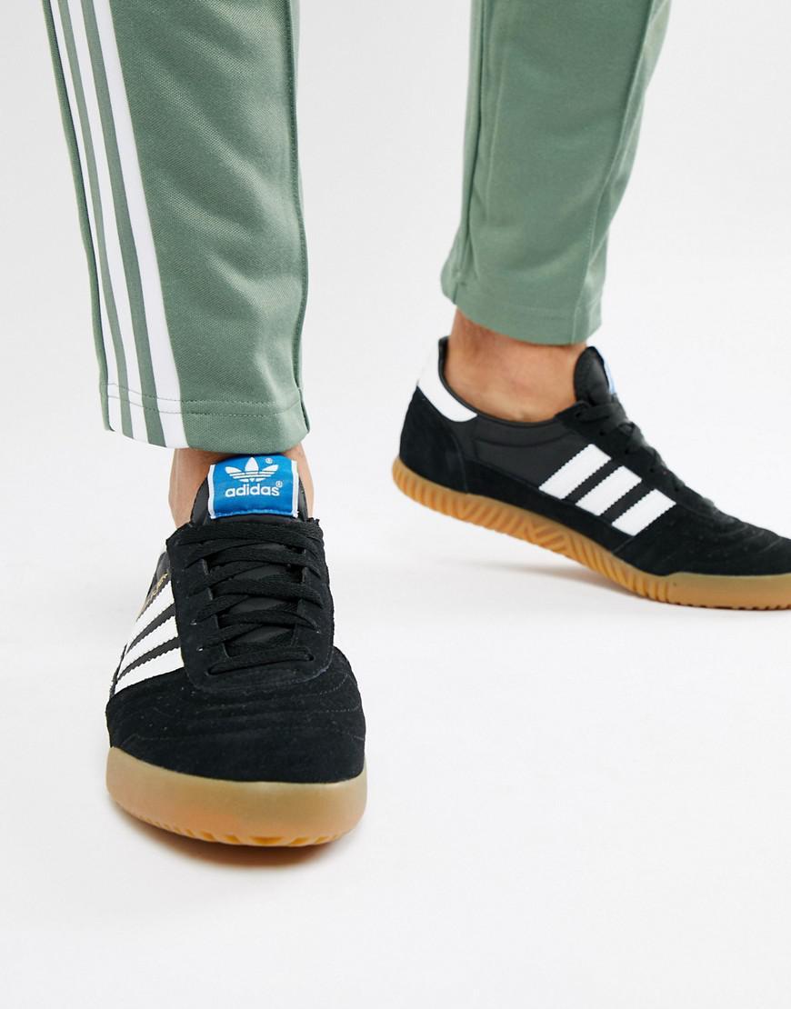 the best attitude 043f6 7e1b3 adidas Originals Handball Top Sneakers In Black B41523 in Bl