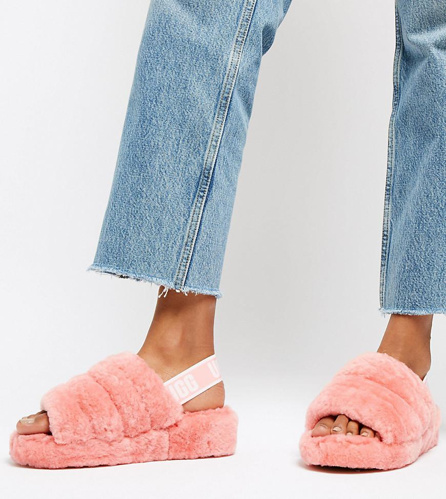 9b4b49341b5 Ugg Exclusive Pink Fluff Yeah Slipper Slides