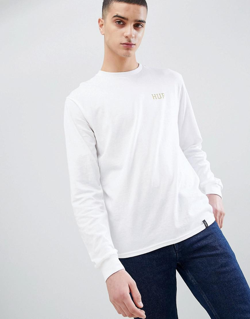 fd69ae63cb huf-white-Long-Sleeve-T-shirt-With-Glitter-Classic-Logo-Back-Print-In-White.jpeg