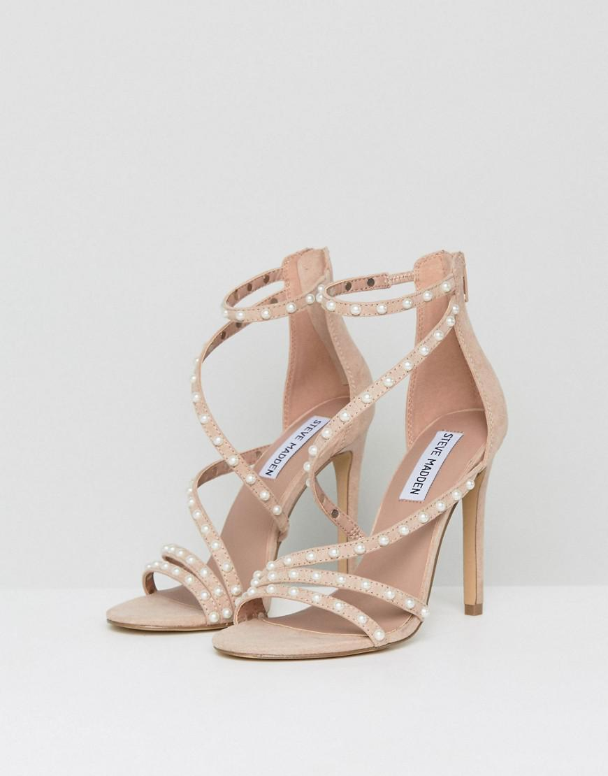 cbf0723044 Steve Madden Meg Pearl Sandals in Pink - Lyst