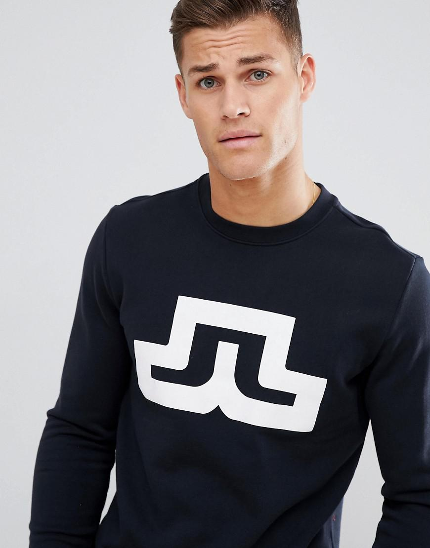 J.Lindeberg Bridge Logo Sweatshirt in Black for Men
