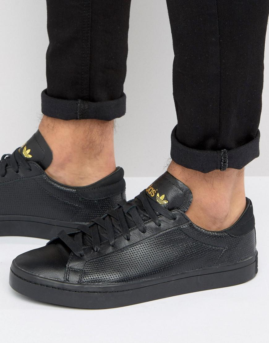 Lyst - adidas Originals Court Vantage Core Sneakers In Black in ... 18757499a