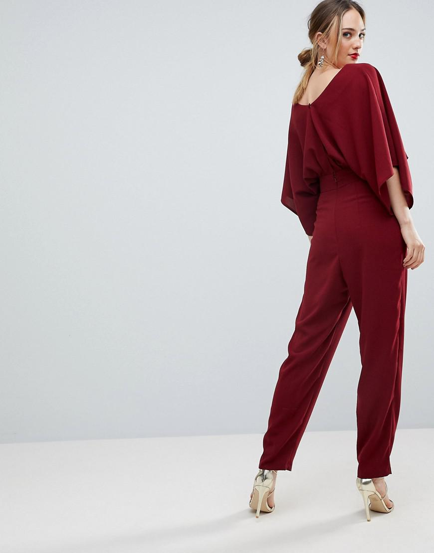 b34d23d4a90c Lyst - ASOS Asos Design Tall Jumpsuit With Kimono Sleeve And Peg Leg in  Purple