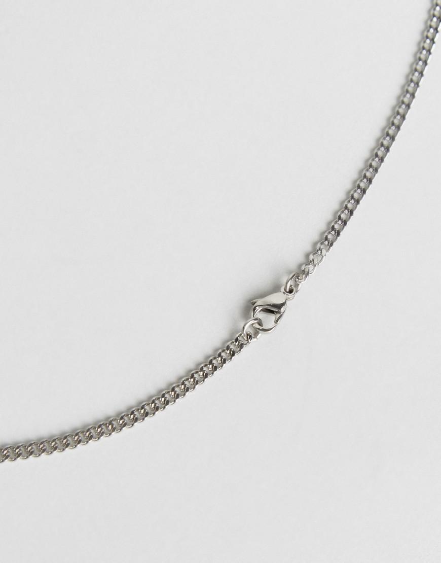 Seven London Cross Necklace In Silver in Metallic for Men
