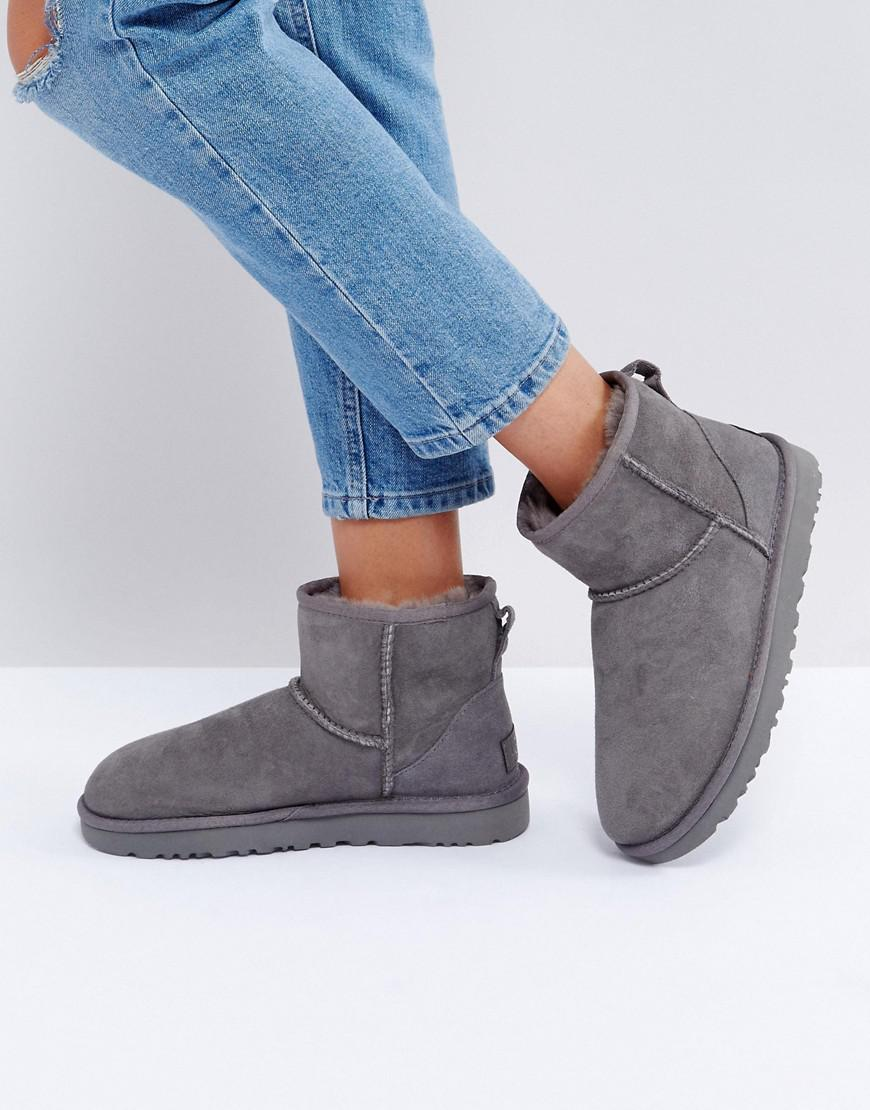 ugg classic mini gray