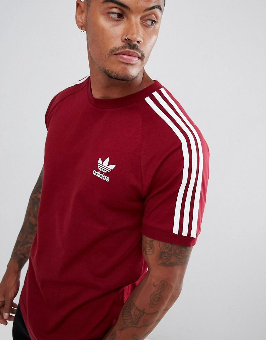 ae17a8bb18f Lyst - adidas Originals California T-shirt In Red Dh5810 in Red for ...