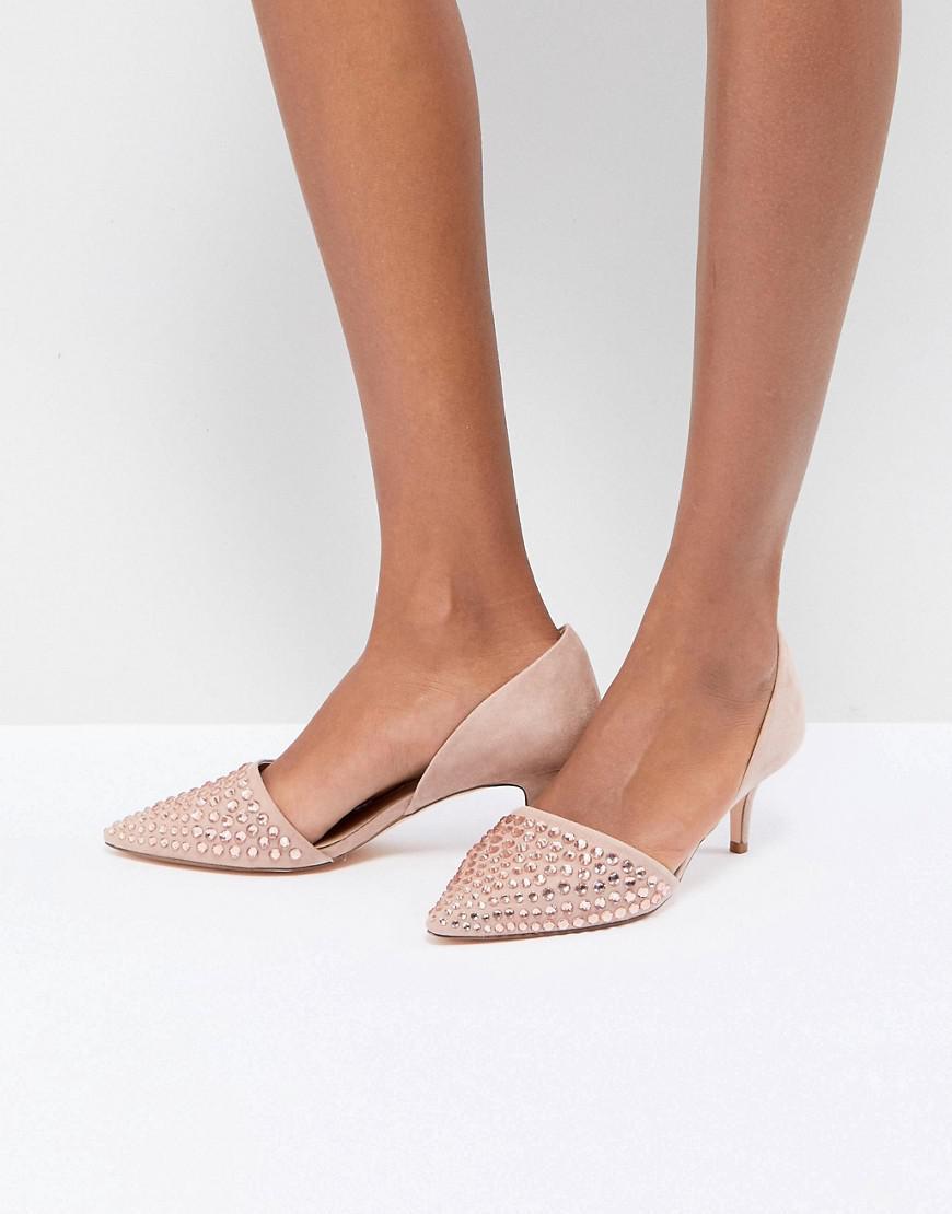 Coast Beaded Kitten Heel Shoes