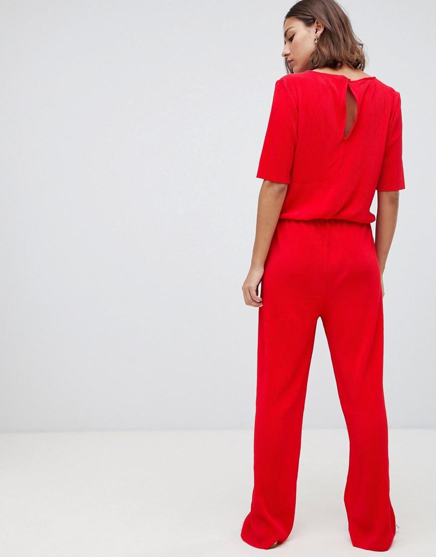 8ae28eae39 Lyst - Minimum Clean Jumpsuit in Red