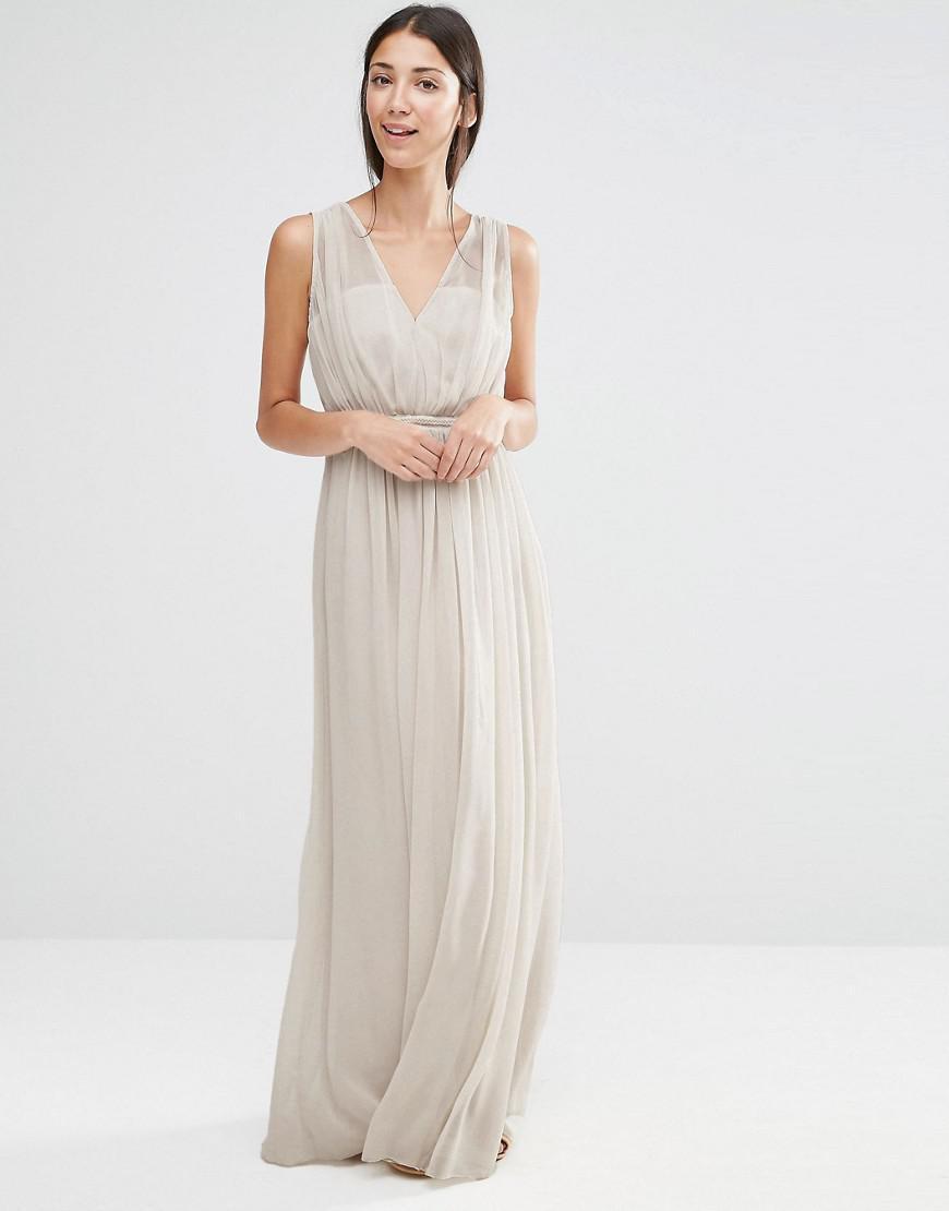 Grecian maxi dress bridesmaid