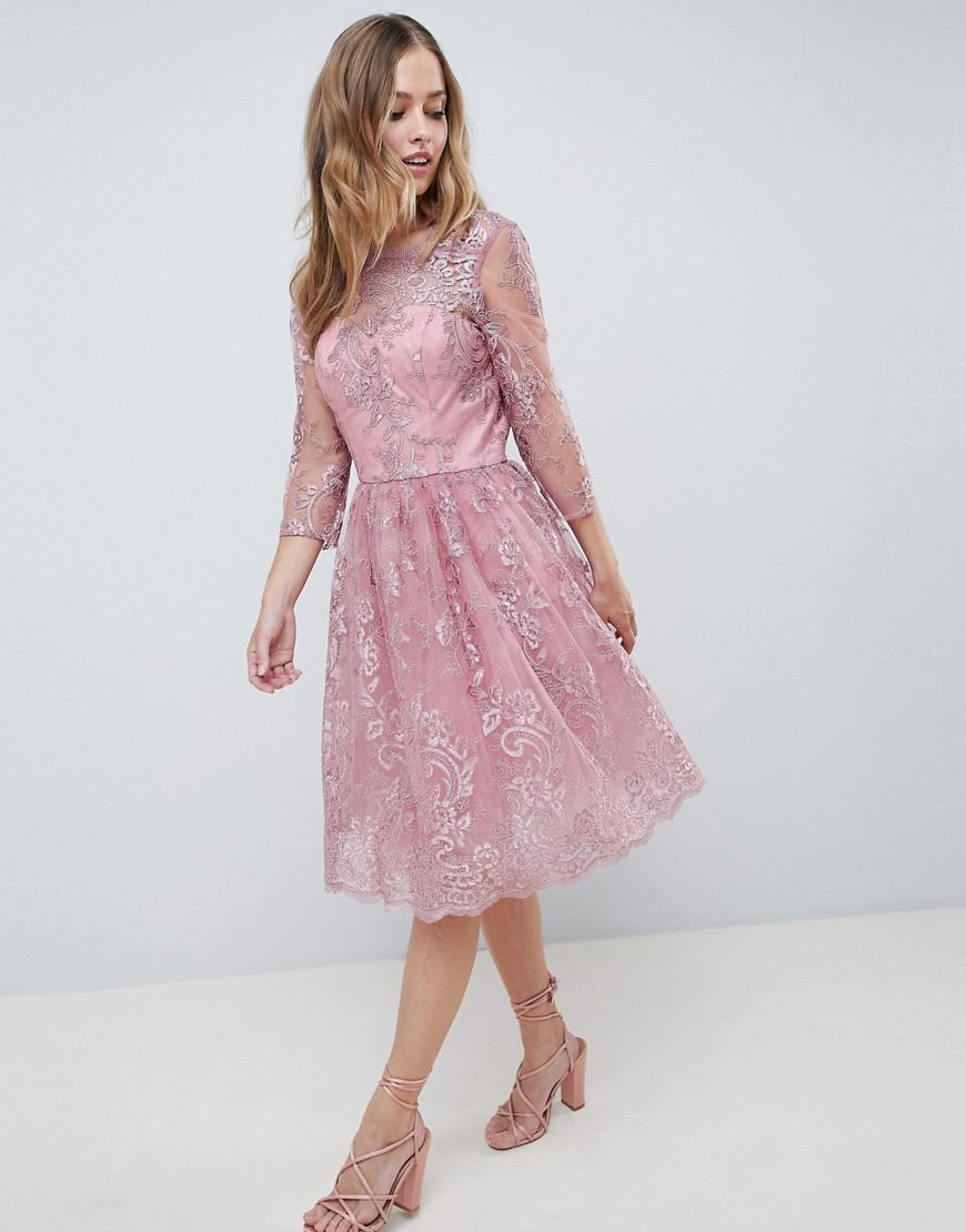 chi chi london hoch neck lace midi kleid factory store 15ae115 beb15d
