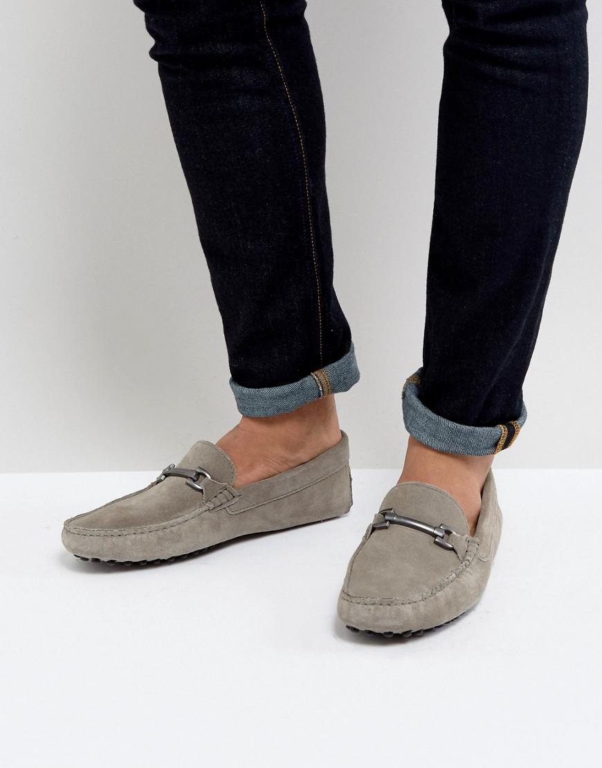 ASOS. Men's Driving Shoes In Gray Suede ...