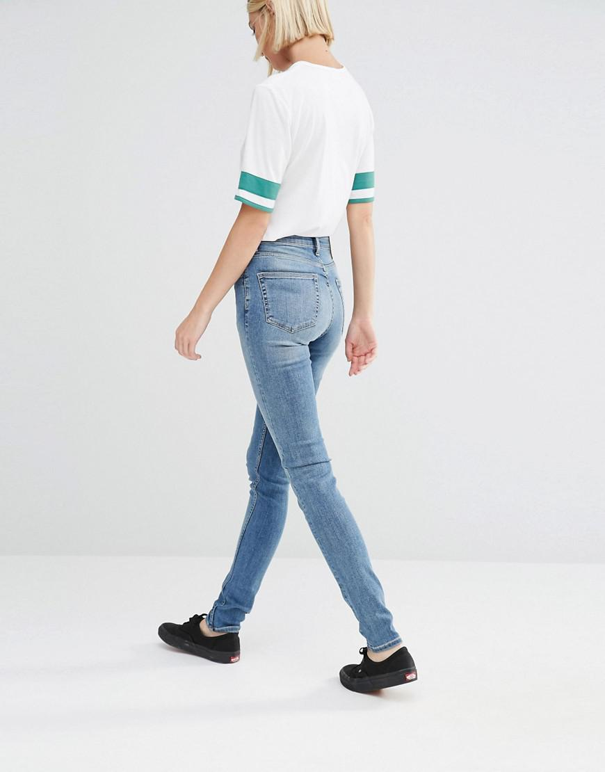 Weekday Denim Thursday High Waist Skinny Jeans in Blue
