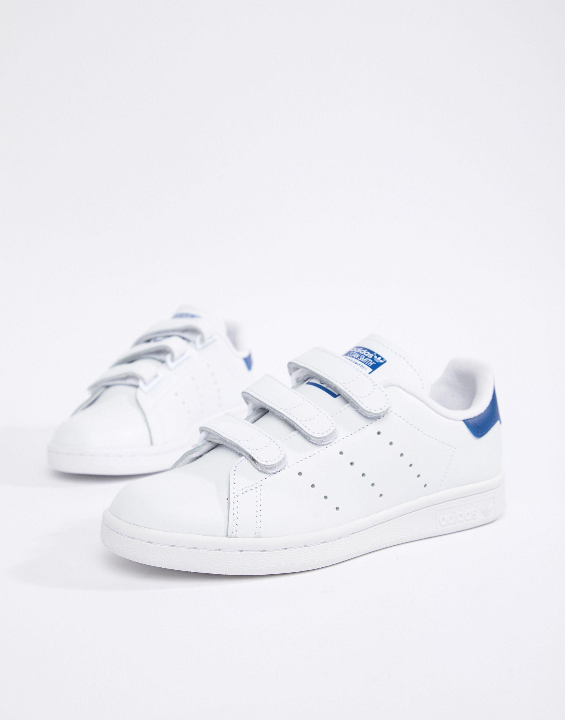adidas Originals Stan Smith Velcro Trainers in White - Lyst